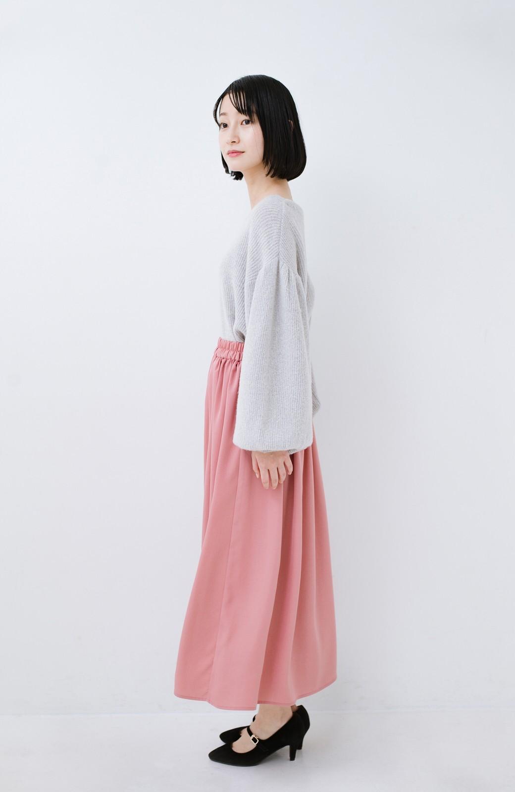 haco! きれいなお姉さんになれる気がするミモレ丈フレアースカート <ピンク>の商品写真12