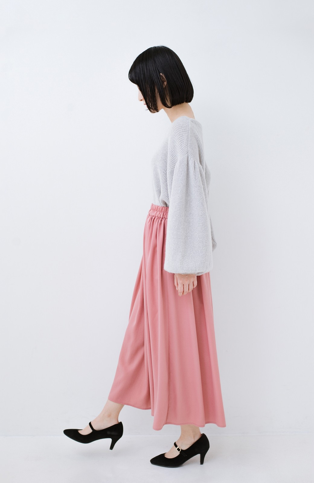 haco! きれいなお姉さんになれる気がするミモレ丈フレアースカート <ピンク>の商品写真13