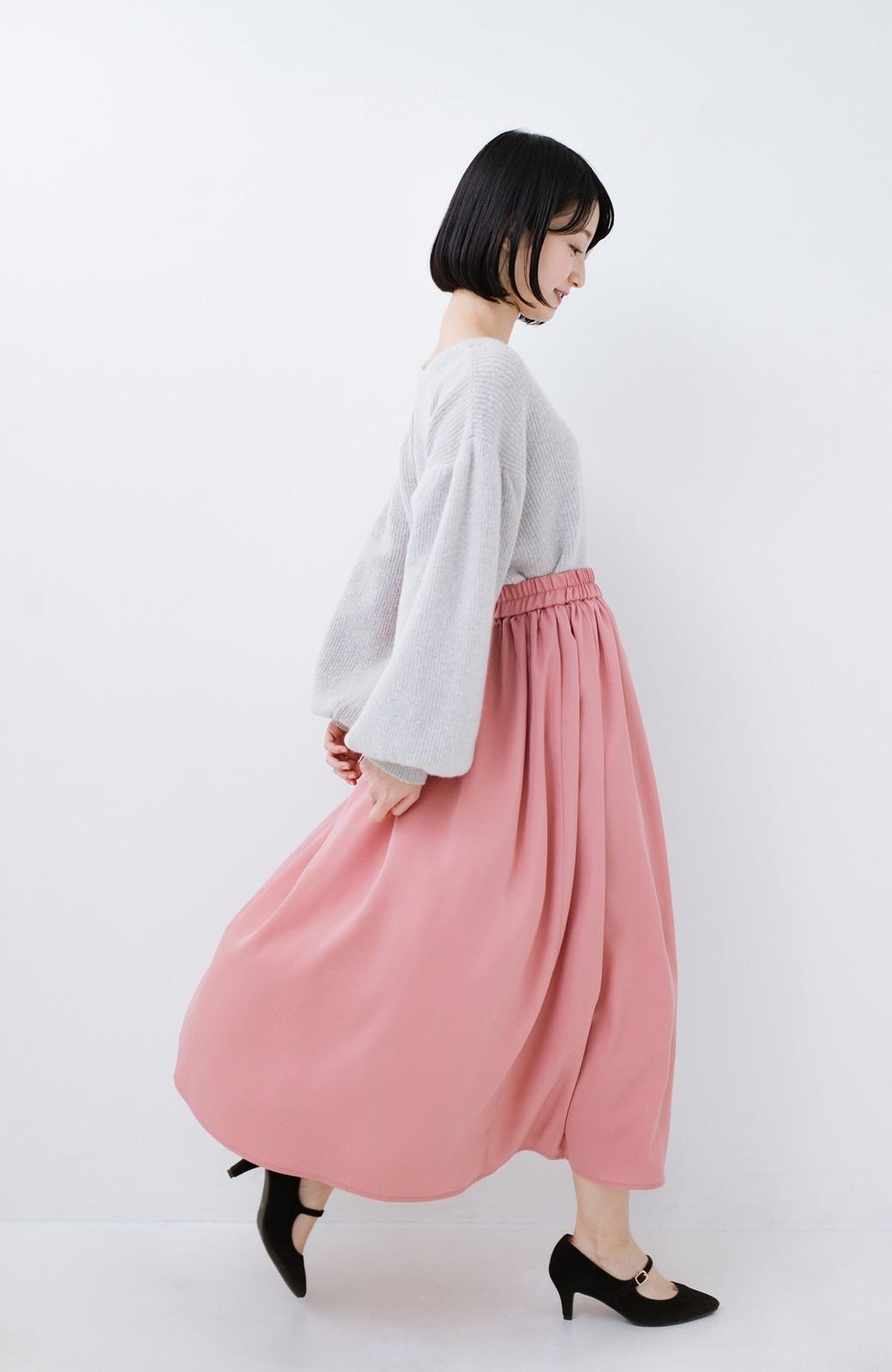 haco! きれいなお姉さんになれる気がするミモレ丈フレアースカート <ピンク>の商品写真14