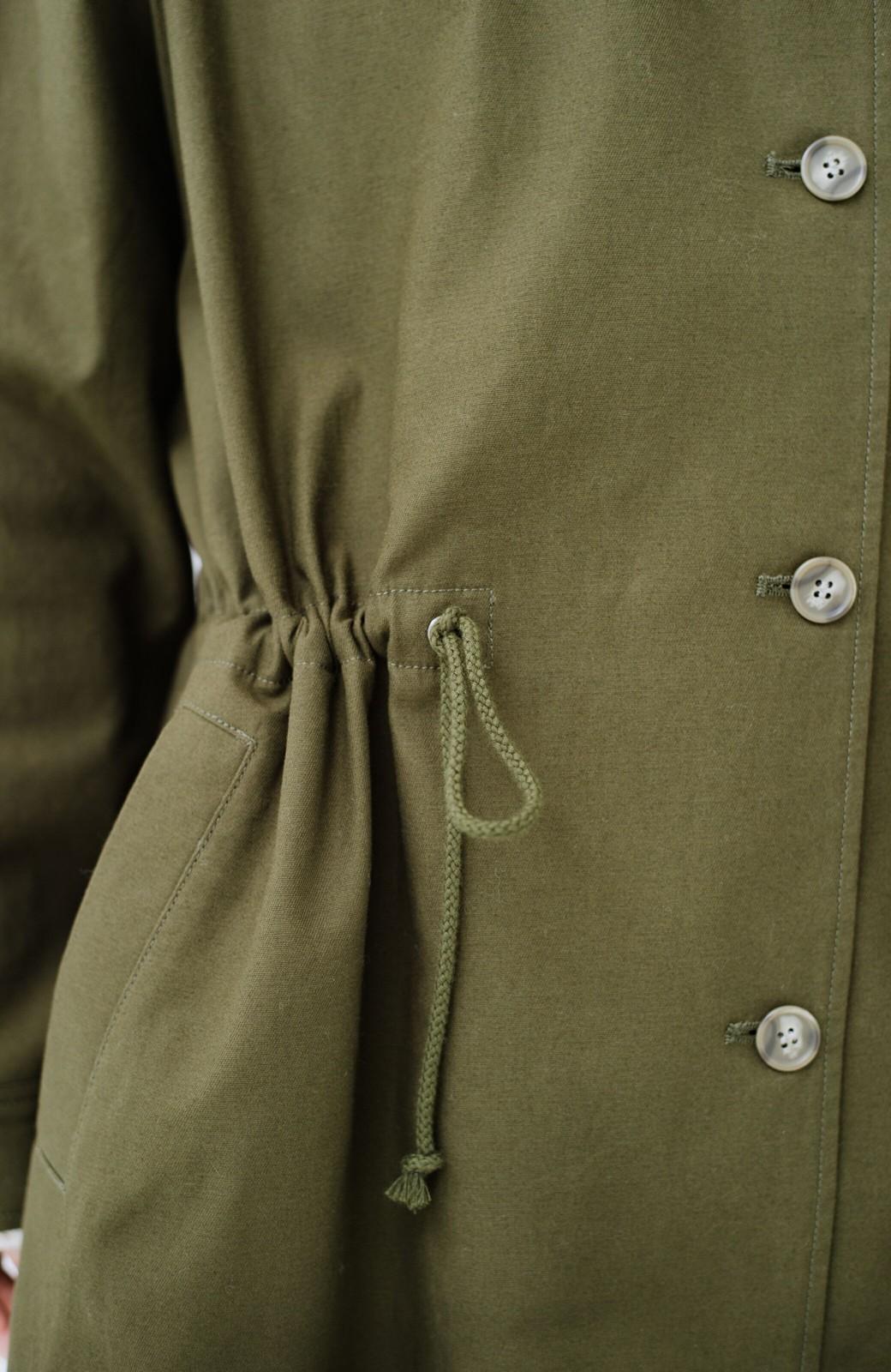 haco! ニットにもTシャツにも合う ロングシーズン着回せるミリタリービッグコート <カーキ>の商品写真5