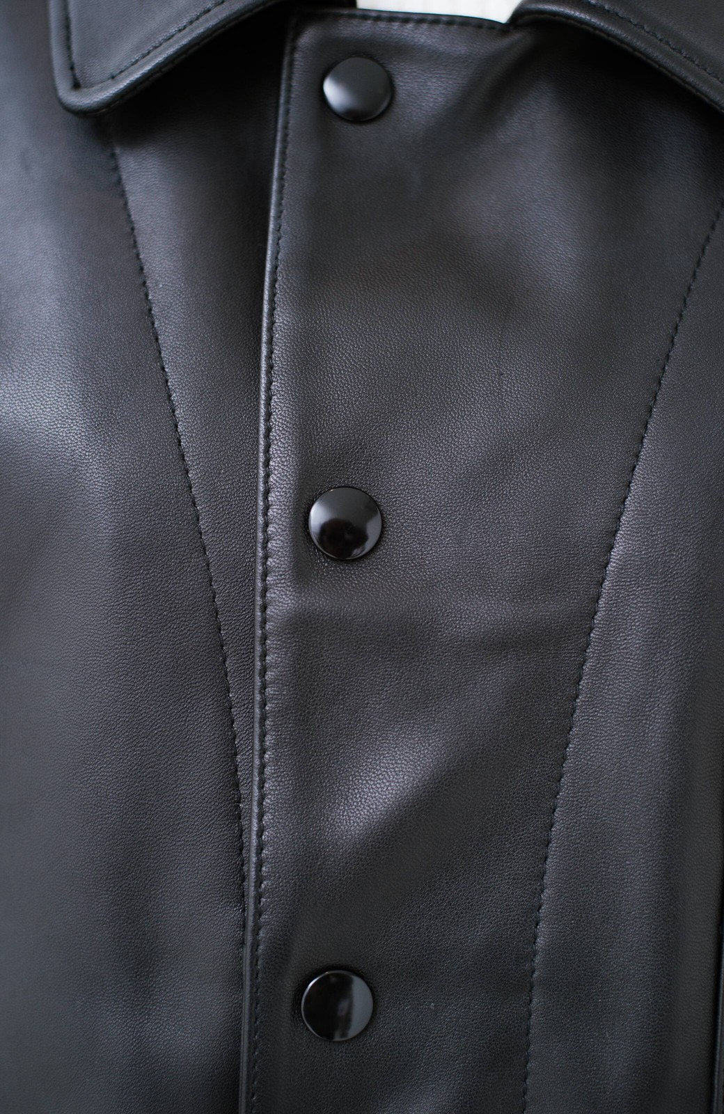 haco! BOLSISTA スナップボタンのレザージャケット<シングル> <ブラック>の商品写真3
