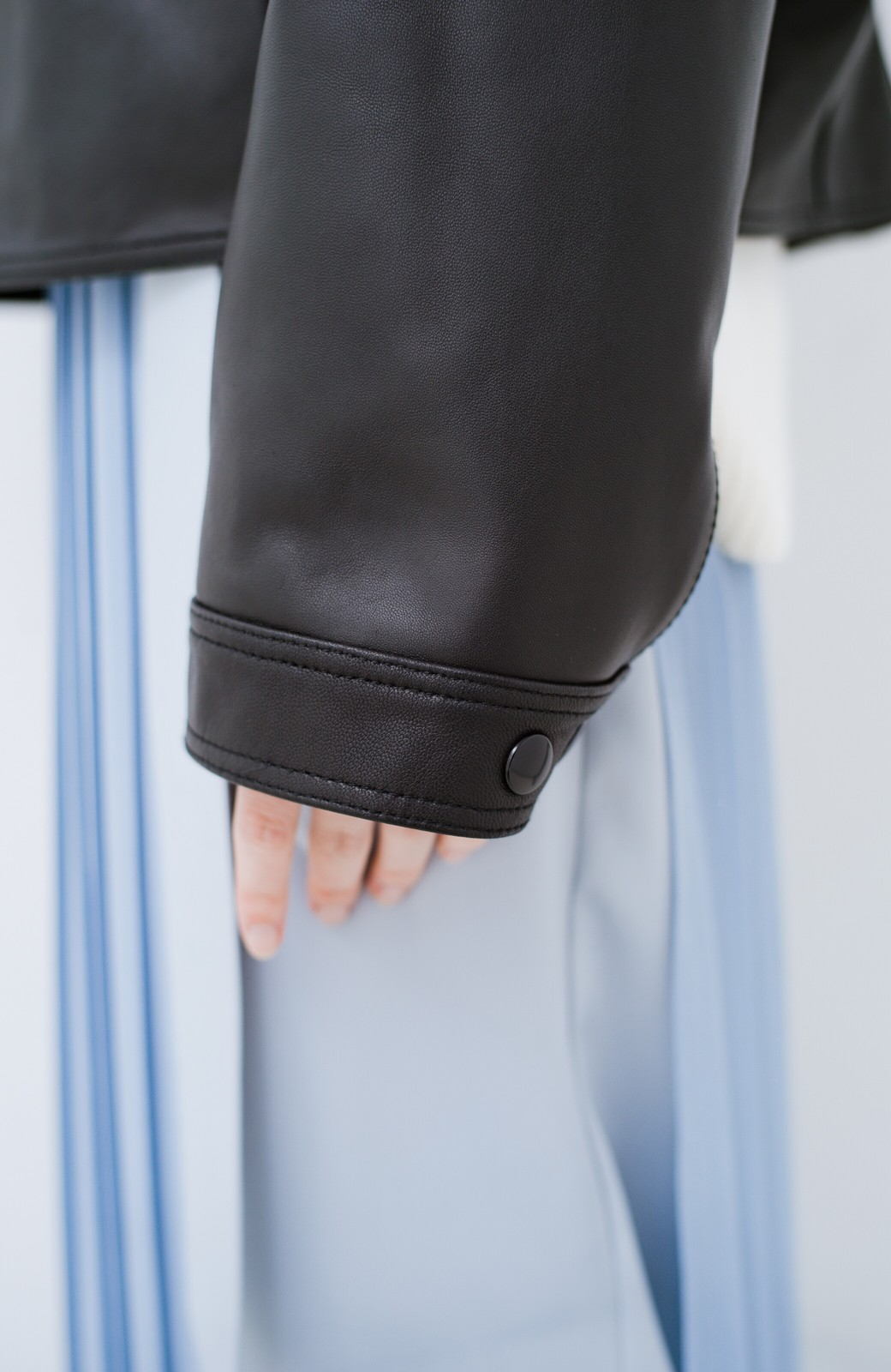 haco! BOLSISTA スナップボタンのレザージャケット<シングル> <ブラック>の商品写真5