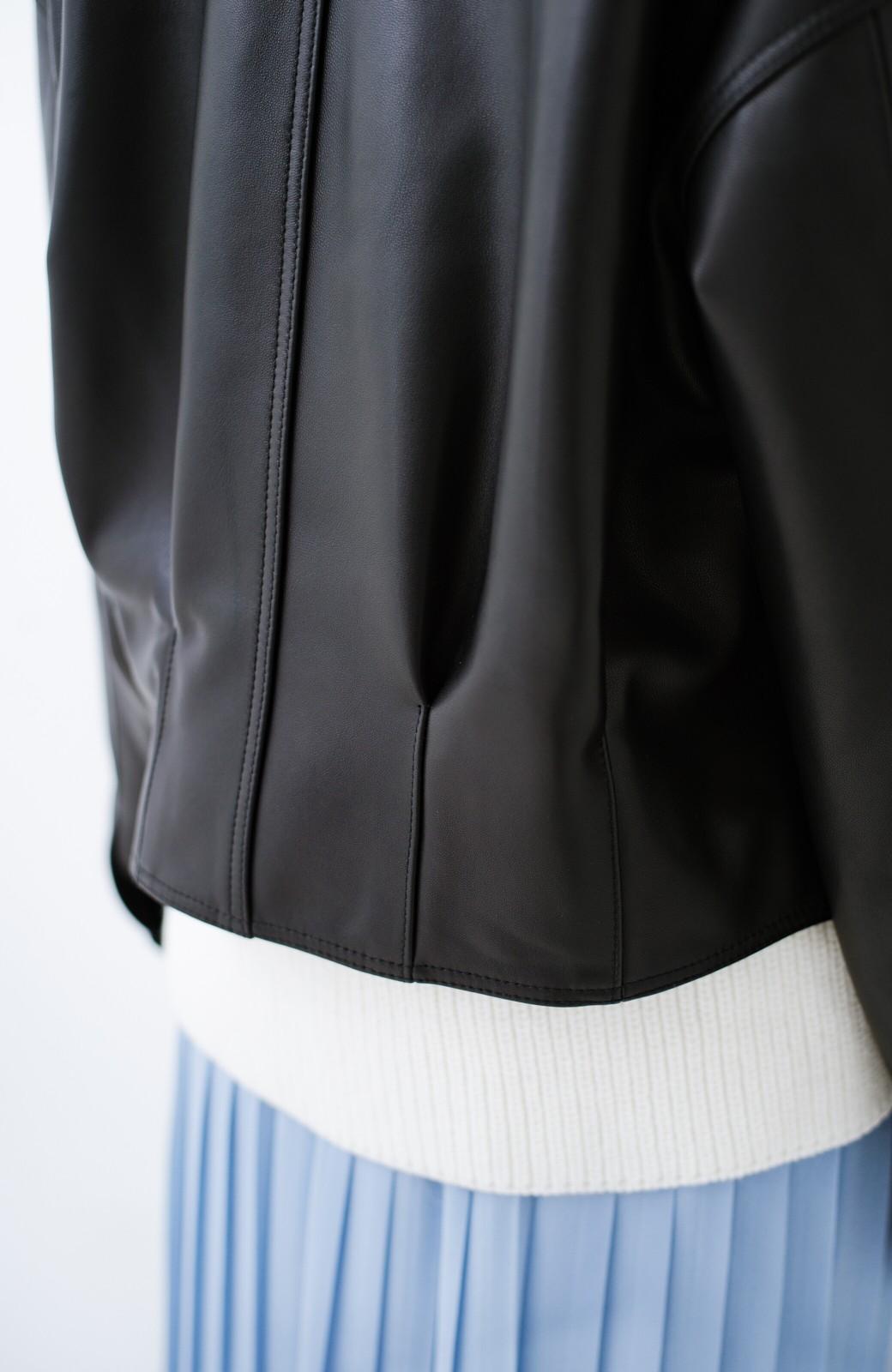 haco! BOLSISTA スナップボタンのレザージャケット<シングル> <ブラック>の商品写真6