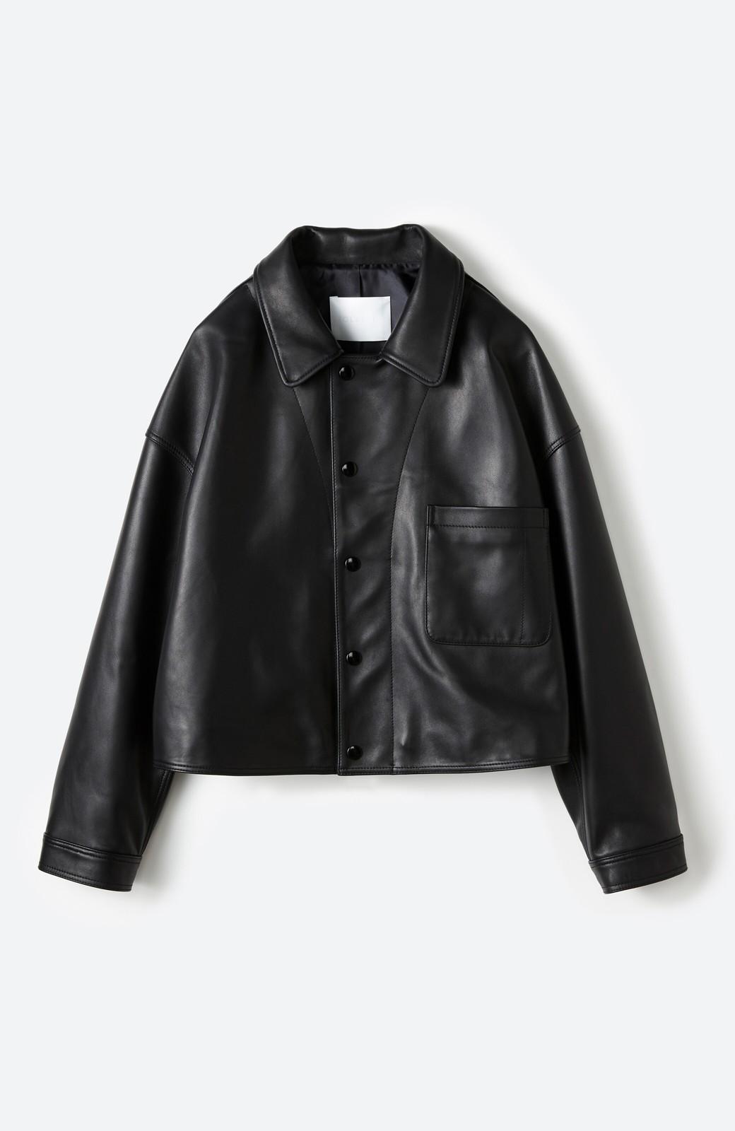 haco! BOLSISTA スナップボタンのレザージャケット<シングル> <ブラック>の商品写真2