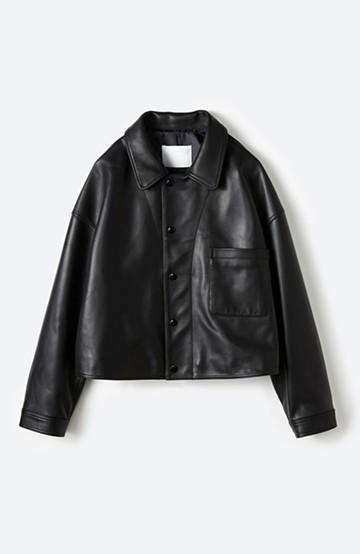 haco! BOLSISTA スナップボタンのレザージャケット<シングル> <ブラック>の商品写真