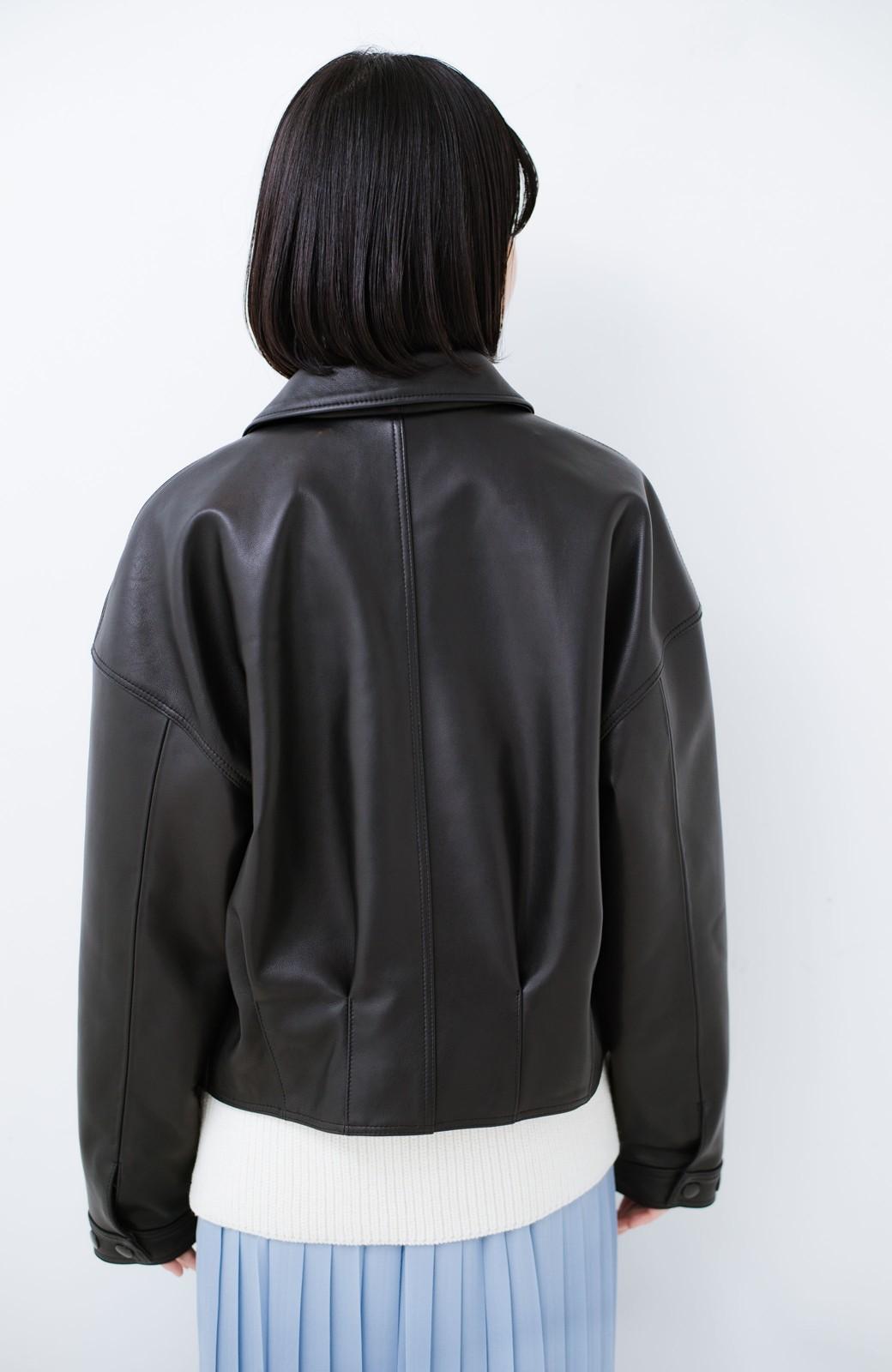 haco! BOLSISTA スナップボタンのレザージャケット<シングル> <ブラック>の商品写真15