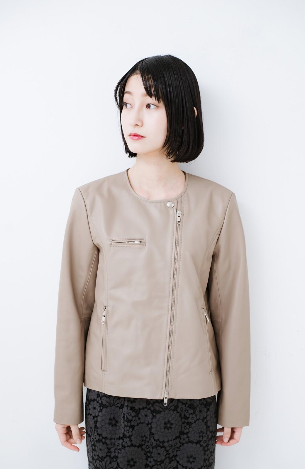 haco! 【限定入荷!!】BOLSISTA ライダースジャケット<シングル> <ライトグレー>の商品写真5
