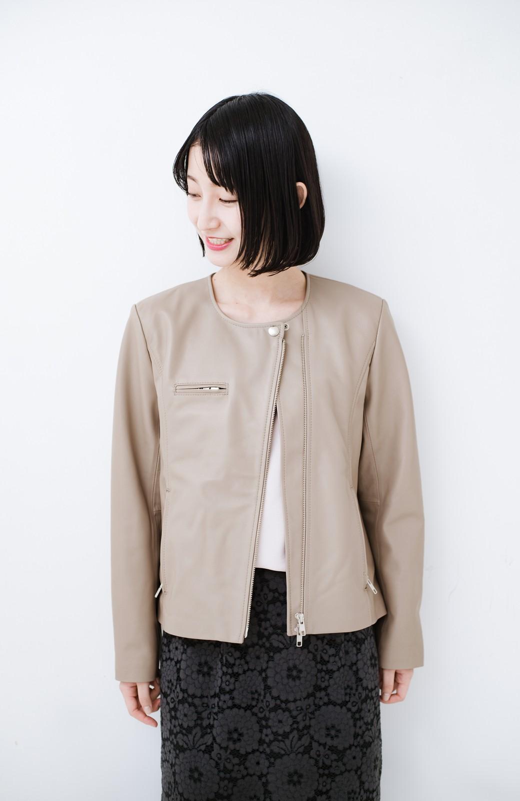 haco! 【限定入荷!!】BOLSISTA ライダースジャケット<シングル> <ライトグレー>の商品写真6