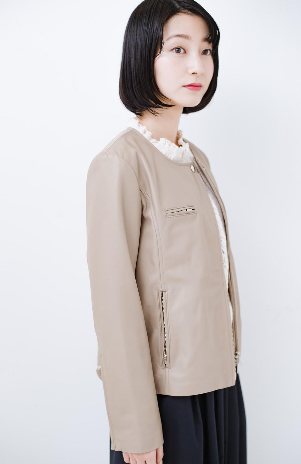 haco! 【限定入荷!!】BOLSISTA ライダースジャケット<シングル> <ライトグレー>の商品写真7