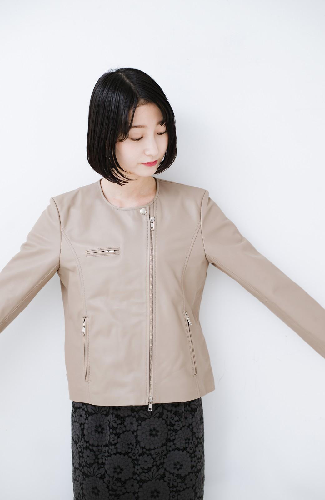 haco! 【限定入荷!!】BOLSISTA ライダースジャケット<シングル> <ライトグレー>の商品写真9