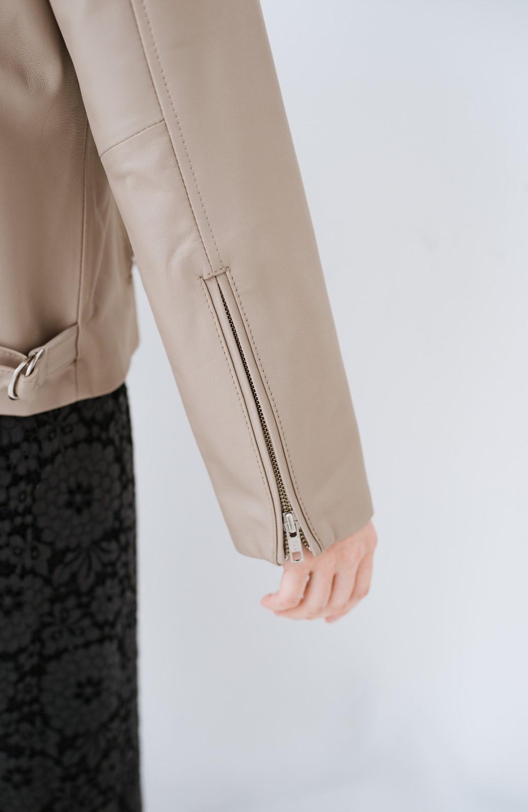 haco! 【限定入荷!!】BOLSISTA ライダースジャケット<シングル> <ライトグレー>の商品写真3