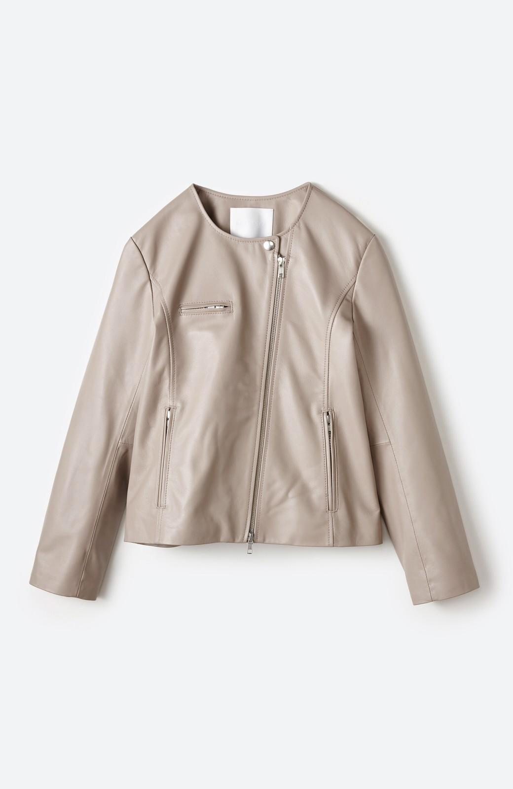 haco! 【限定入荷!!】BOLSISTA ライダースジャケット<シングル> <ライトグレー>の商品写真1
