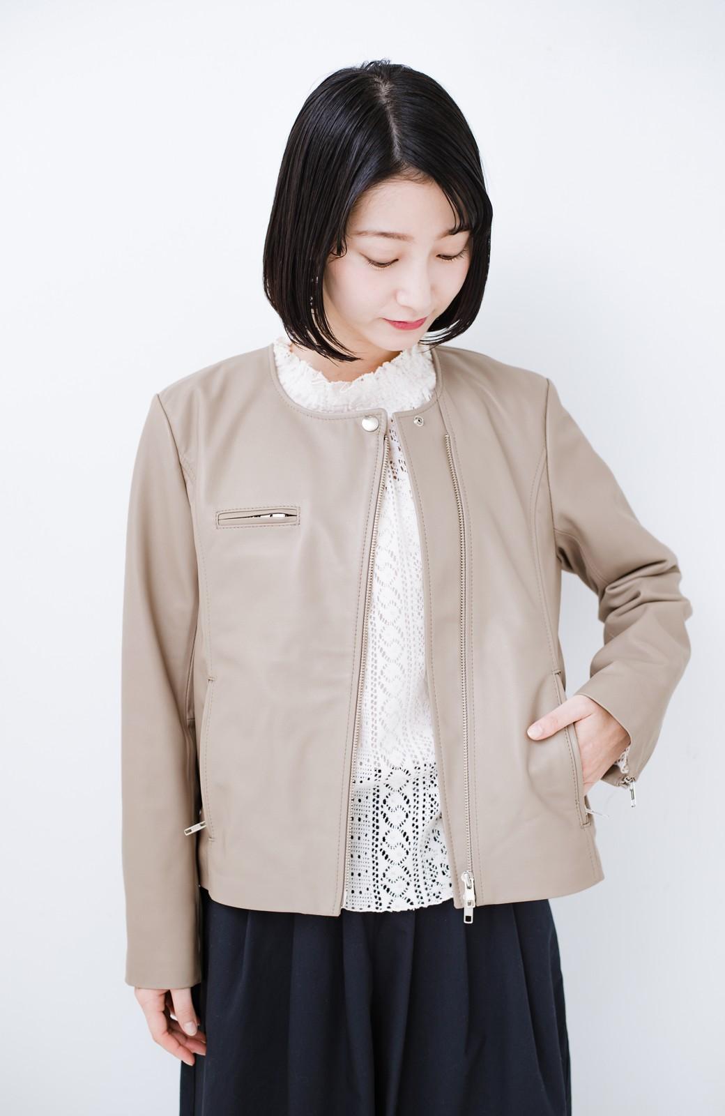 haco! 【限定入荷!!】BOLSISTA ライダースジャケット<シングル> <ライトグレー>の商品写真15