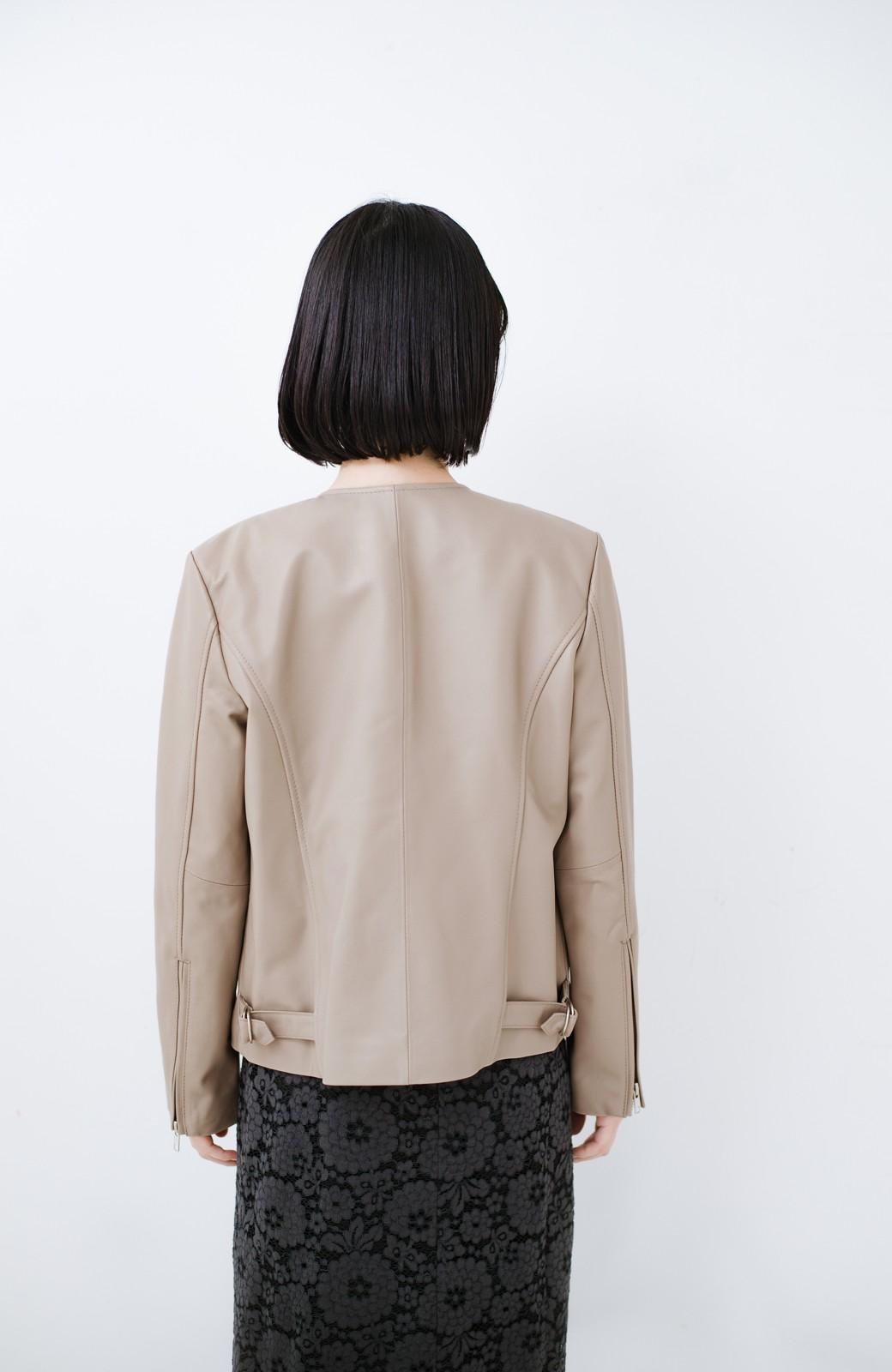 haco! 【限定入荷!!】BOLSISTA ライダースジャケット<シングル> <ライトグレー>の商品写真17
