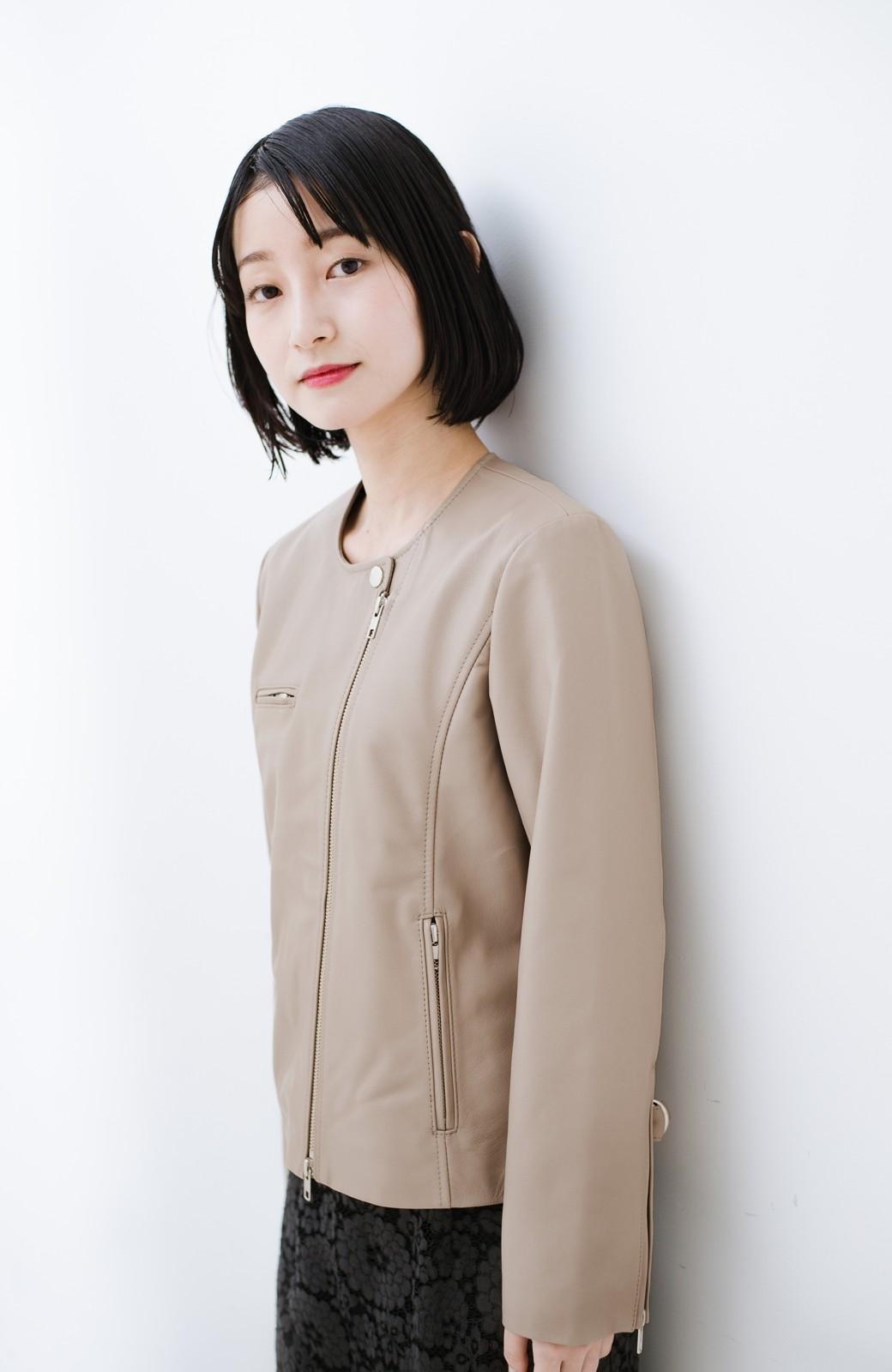 haco! 【限定入荷!!】BOLSISTA ライダースジャケット<シングル> <ライトグレー>の商品写真18