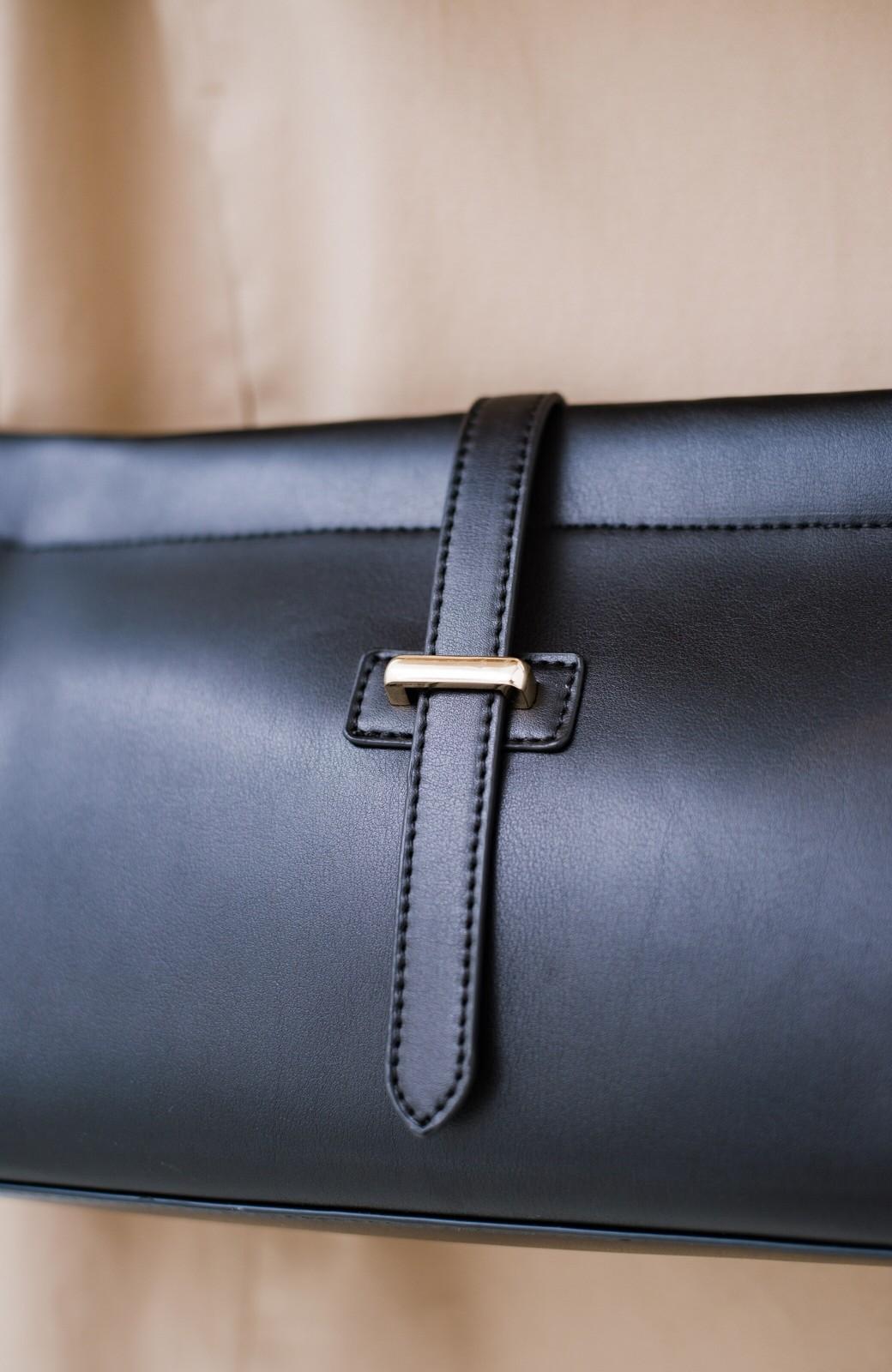 haco! 結婚式や二次会にも便利なショルダー&クラッチ2WAYバッグ <ブラック>の商品写真6