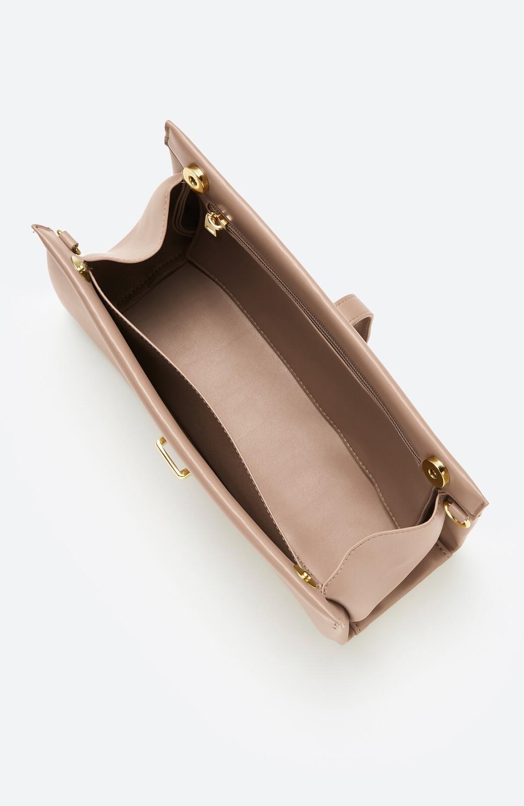 haco! 結婚式や二次会にも便利なショルダー&クラッチ2WAYバッグ <ベージュ>の商品写真2