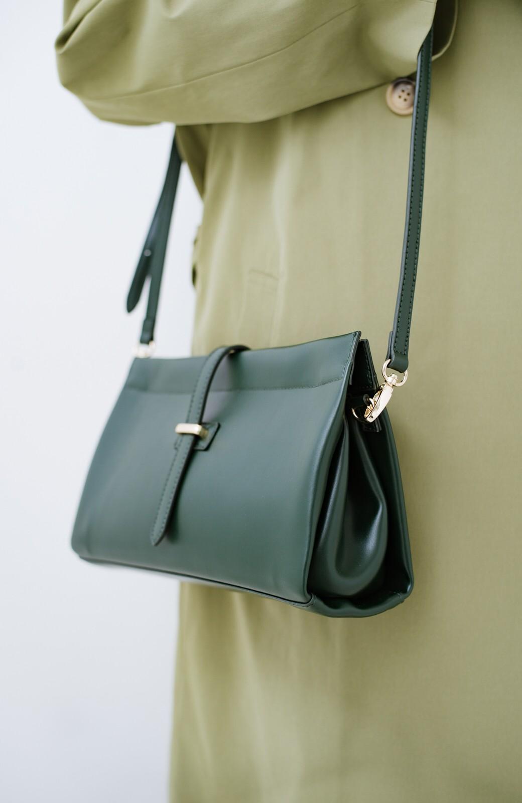 haco! 結婚式や二次会にも便利なショルダー&クラッチ2WAYバッグ <グリーン>の商品写真5