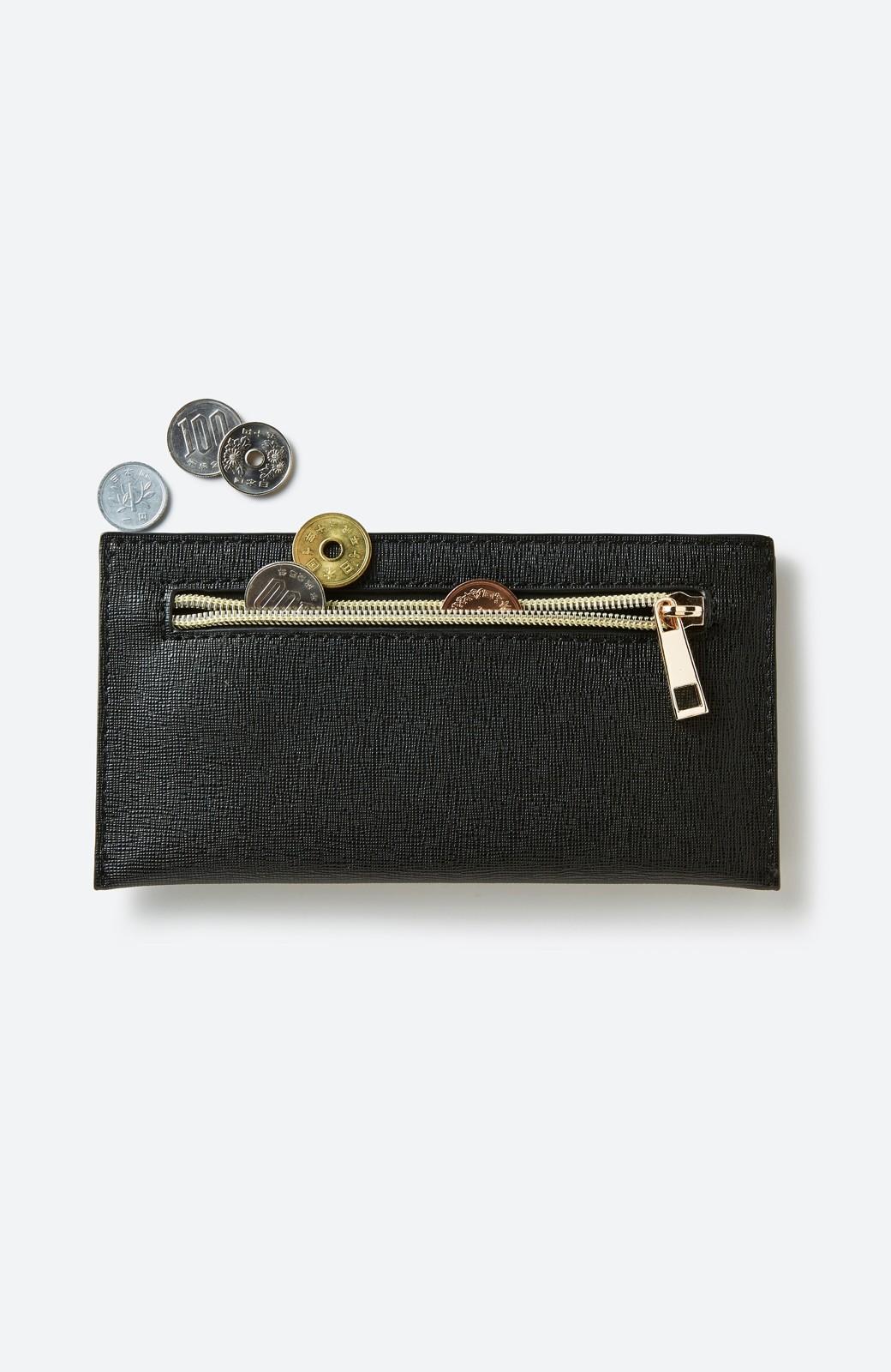 haco! 結婚式や二次会にも便利なお財布機能付きショルダーバッグ <ブラック>の商品写真8