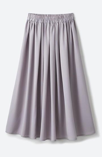 haco! きれいなお姉さんになれる気がするミモレ丈フレアースカート <ライトグレー>の商品写真