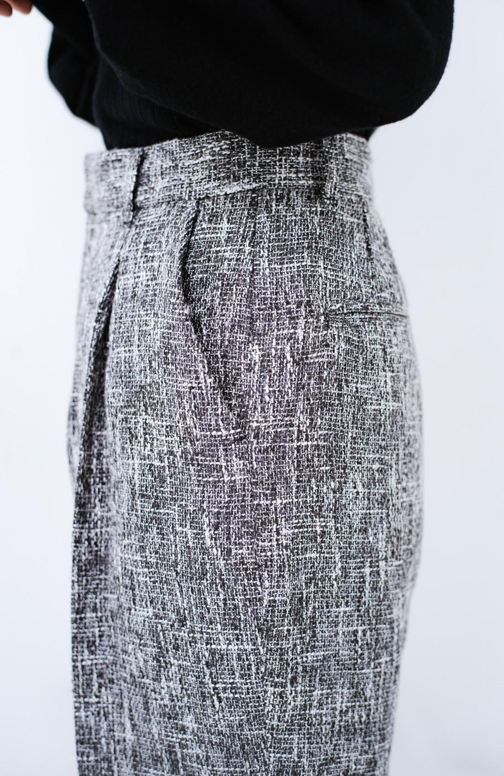 haco! きちんと見せたいときのツイード調パンツ by que made me <ブラック>の商品写真7