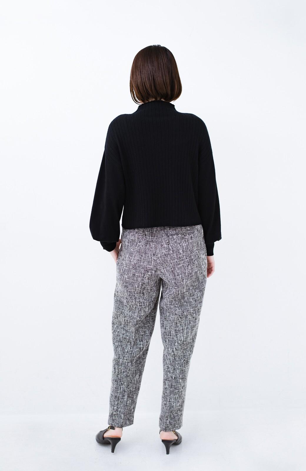 haco! きちんと見せたいときのツイード調パンツ by que made me <ブラック>の商品写真13