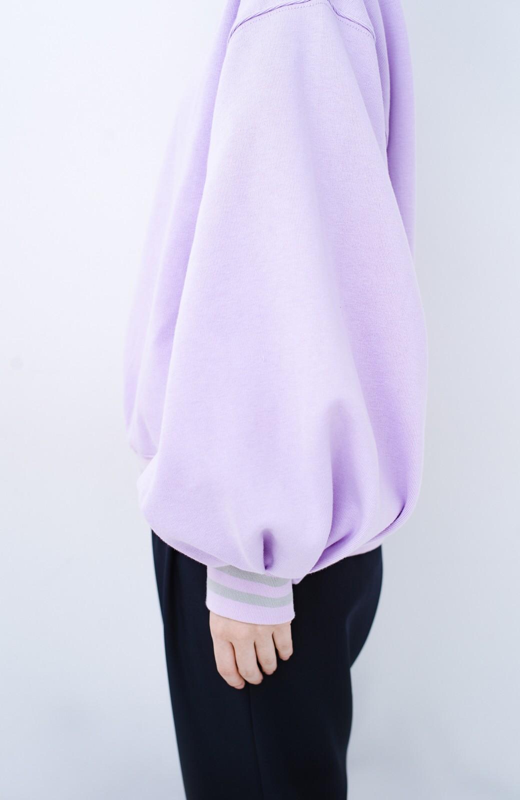haco! 子どもっぽくならない 袖ボリュームのきれいめ大人女子スウェット <ラベンダー>の商品写真3