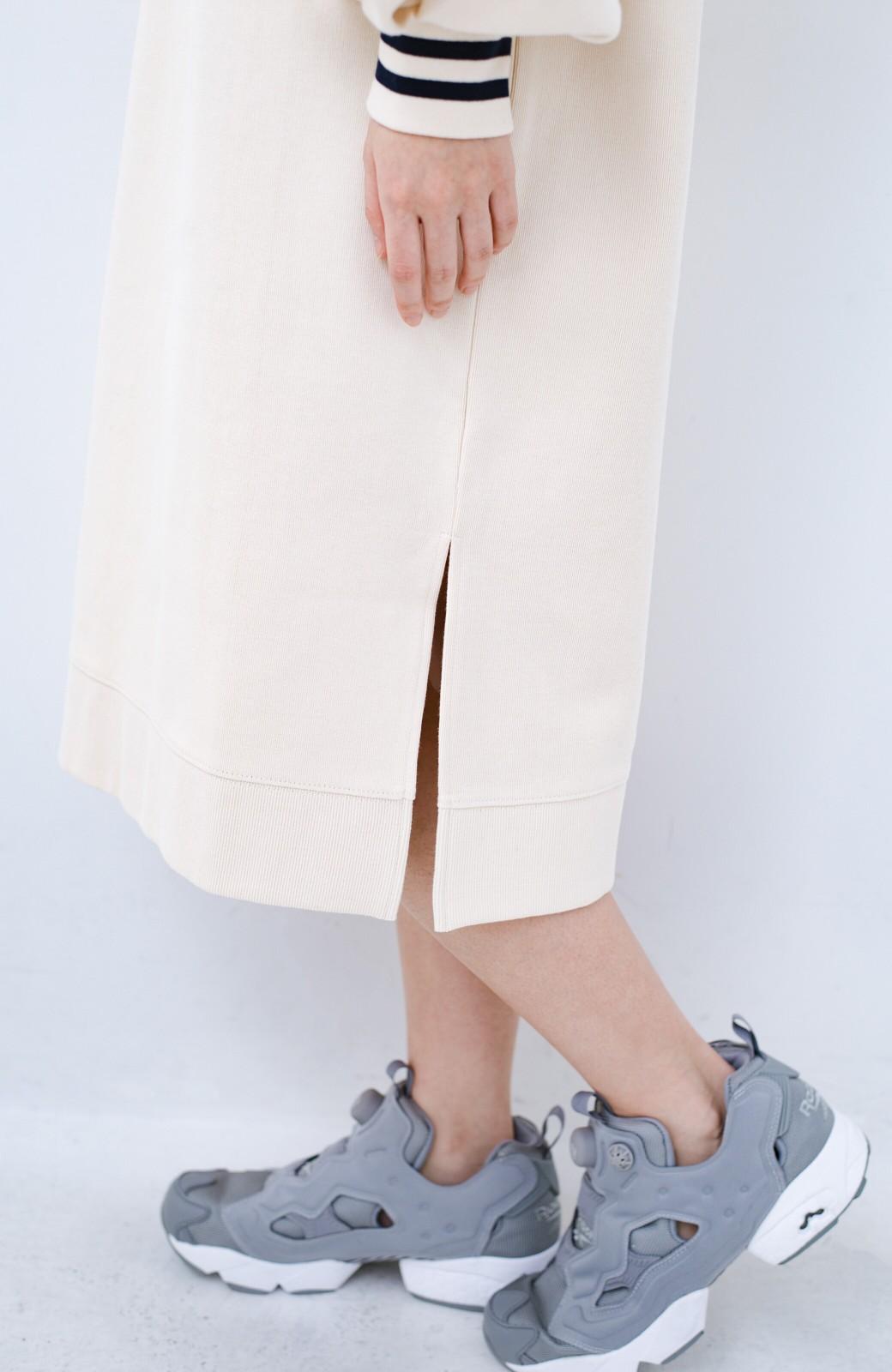 haco! 子どもっぽくならない 袖ボリュームのきれいめ大人女子スウェットワンピース <オフホワイト>の商品写真4