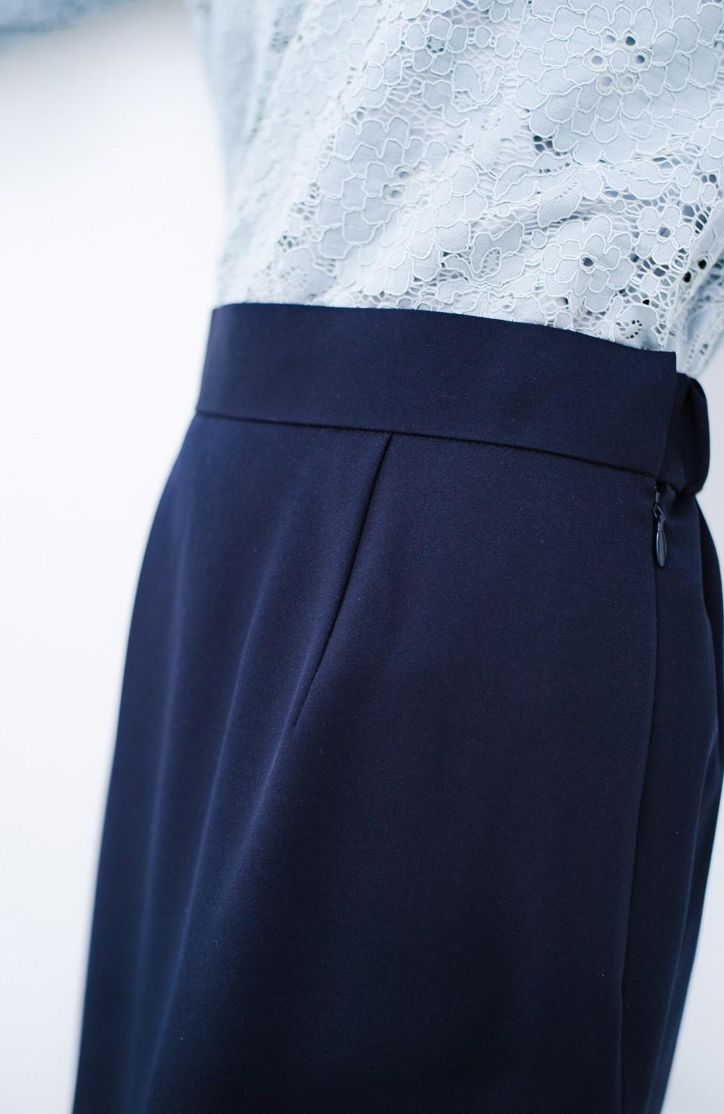 haco! 持っていると便利な 野暮ったくならないタイトスカート <ネイビー>の商品写真7
