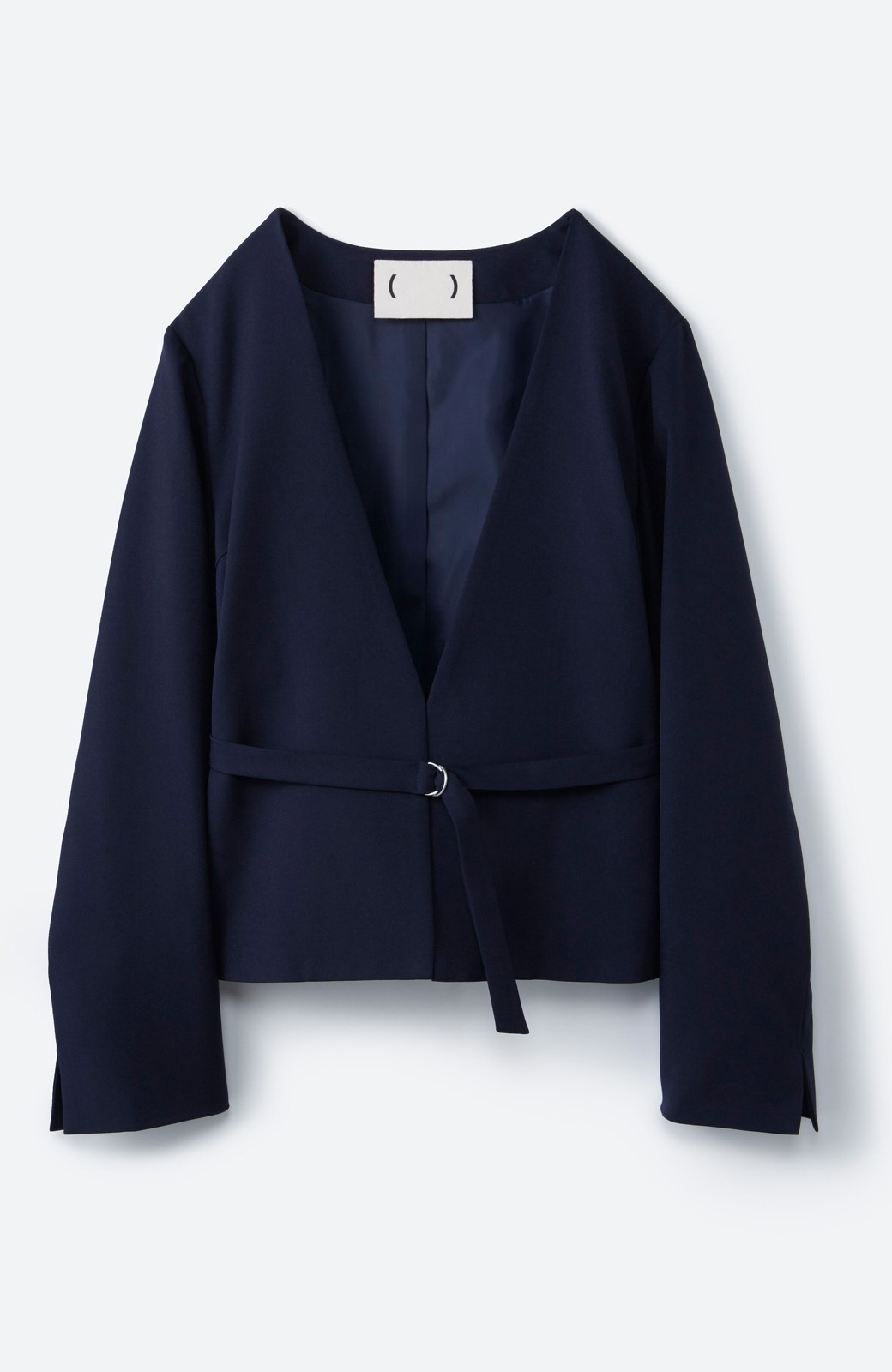 haco! 持っていると便利な野暮ったくならないフォーマルジャケット・スカートの2点セット <ネイビー>の商品写真2
