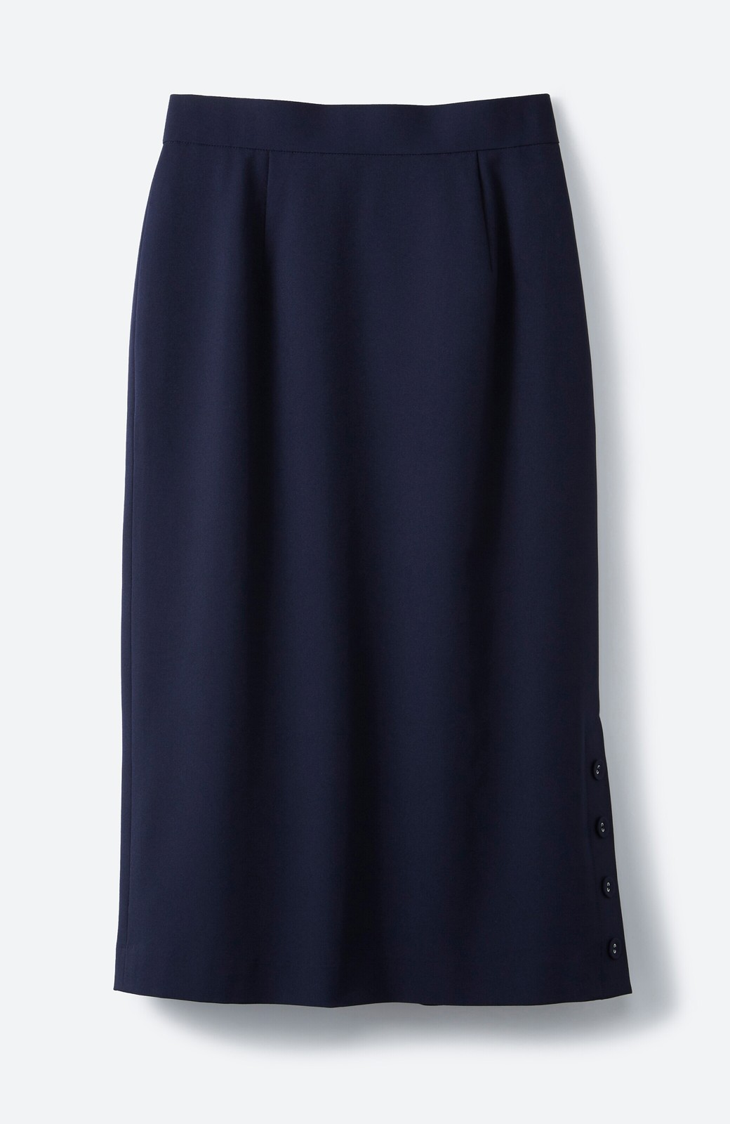 haco! 持っていると便利な野暮ったくならないフォーマルジャケット・スカートの2点セット <ネイビー>の商品写真3
