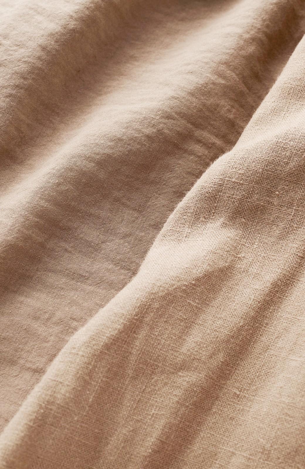 haco! パッと羽織るだけで今っぽ&女っぽが叶う 異素材づかいのロングコート <ベージュ>の商品写真2