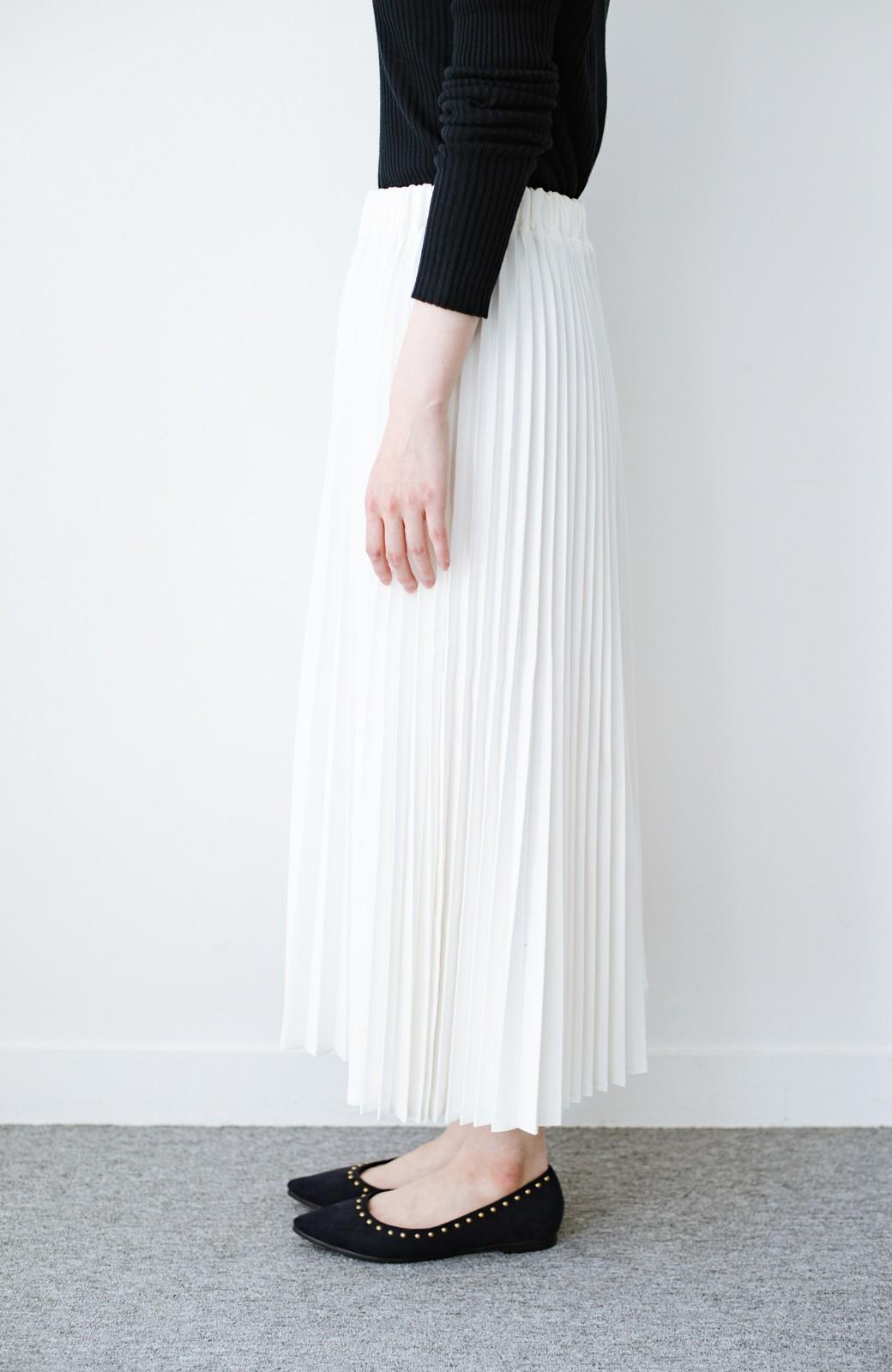haco! Urvin プリーツデニムスカート <ホワイト>の商品写真3