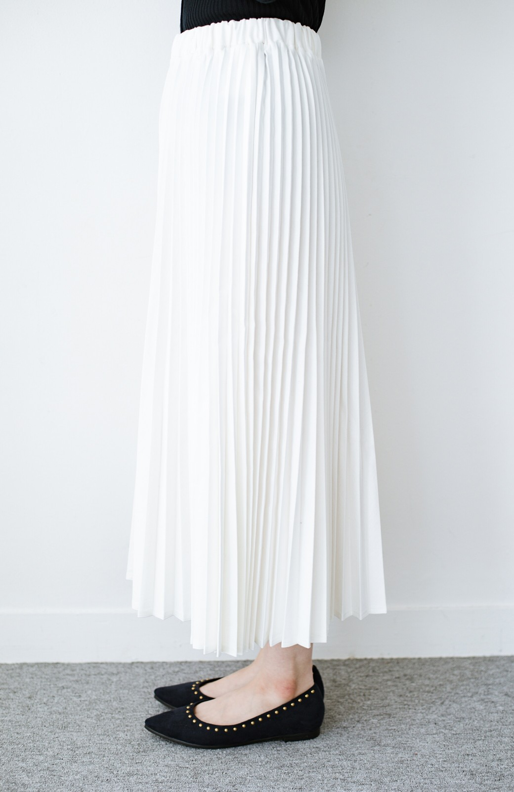 haco! Urvin プリーツデニムスカート <ホワイト>の商品写真4