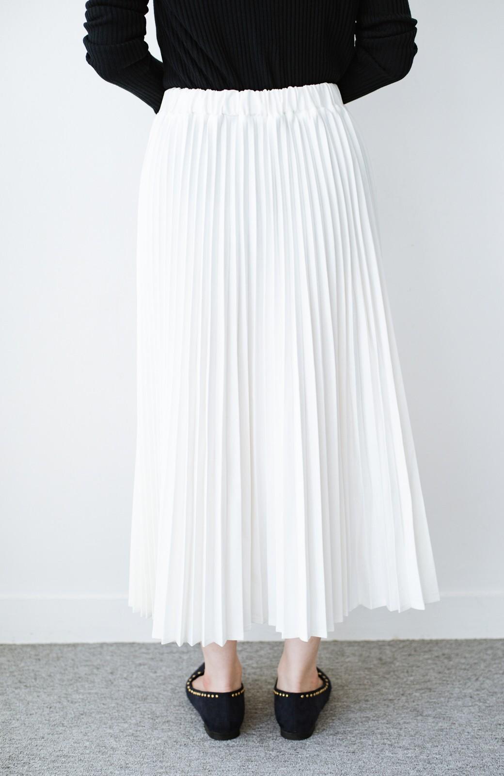 haco! Urvin プリーツデニムスカート <ホワイト>の商品写真5
