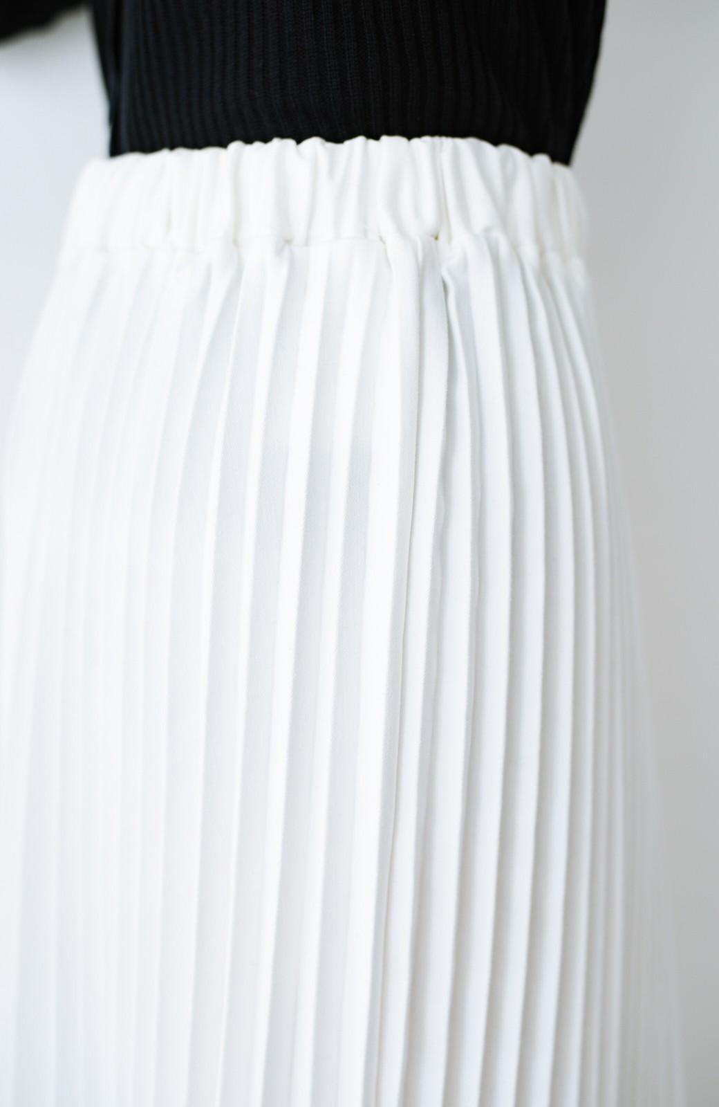 haco! Urvin プリーツデニムスカート <ホワイト>の商品写真6