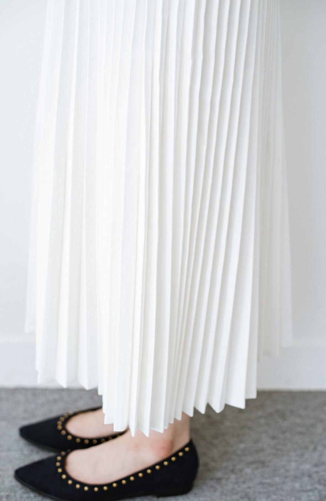 haco! Urvin プリーツデニムスカート <ホワイト>の商品写真7