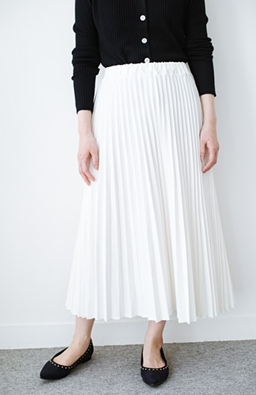 haco! Urvin プリーツデニムスカート <ホワイト>の商品写真