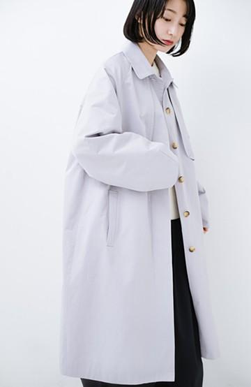 haco! 朝の着替え迷子解決!ボトムスのカラーに迷わないふんわりライトトレンチコート <ライトグレー>の商品写真
