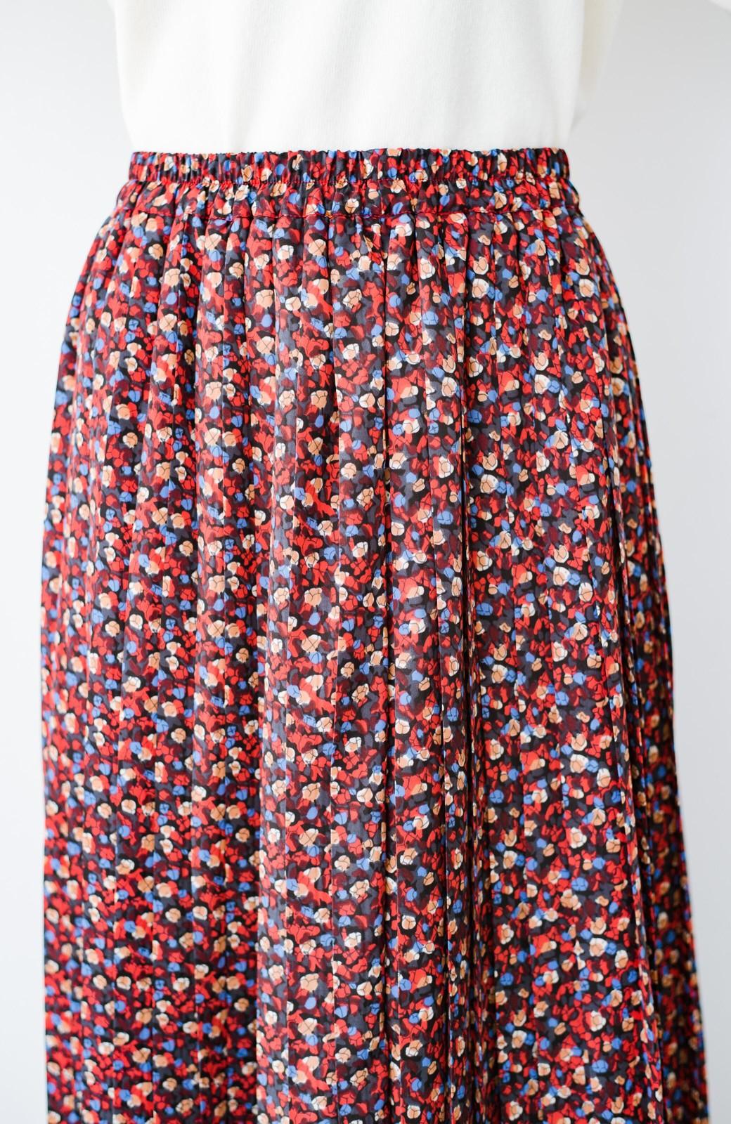 haco! これを着てお出かけしたくなる!はきやすくて気分が上がる花柄プリーツスカート <レッド系その他>の商品写真8