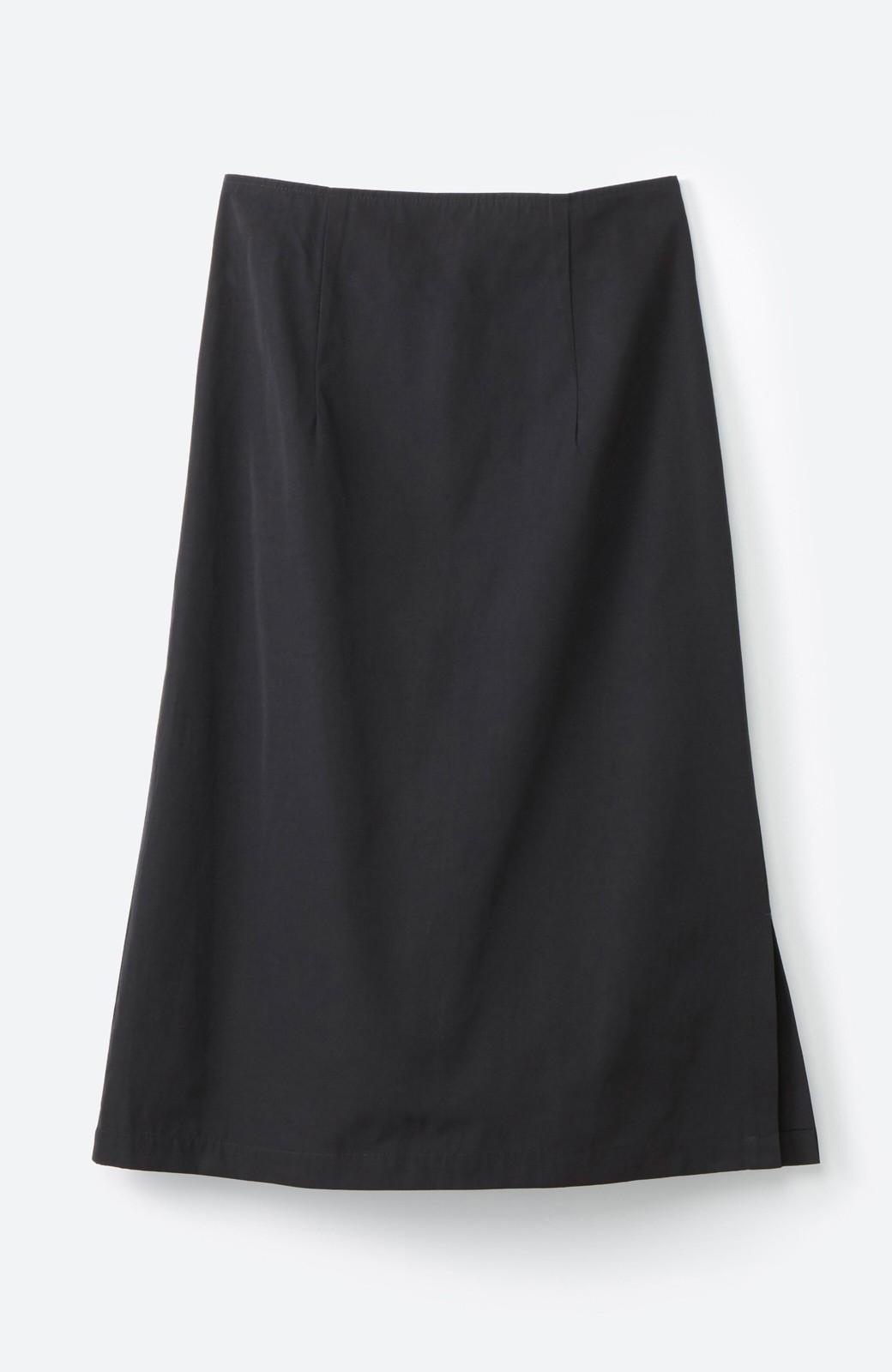 haco! はくだけで華やかなきれいシルエットの重ねタイトスカート by MAKORI <ブラック>の商品写真3