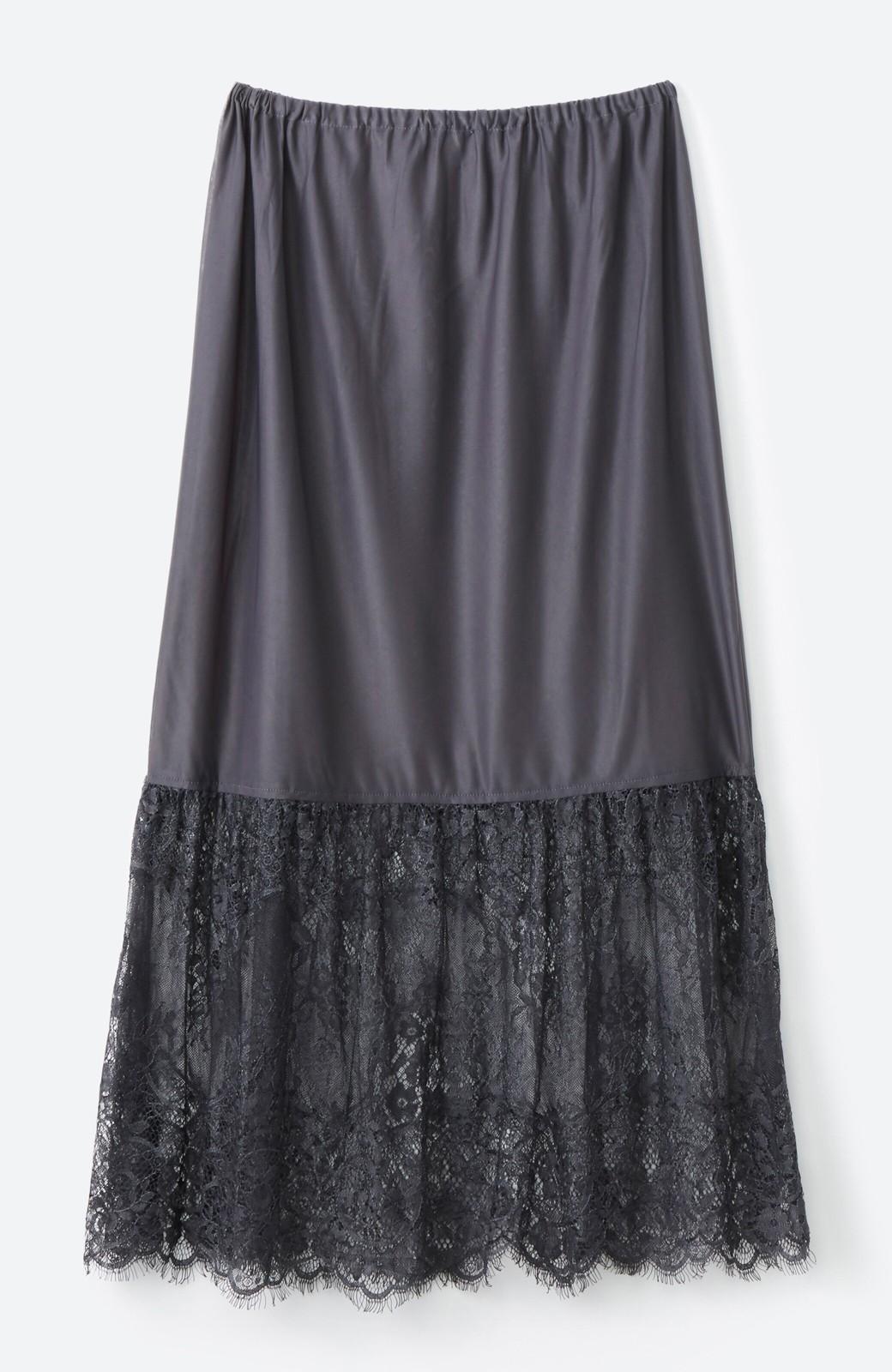 haco! はくだけで華やかなきれいシルエットの重ねタイトスカート by MAKORI <ブラック>の商品写真4