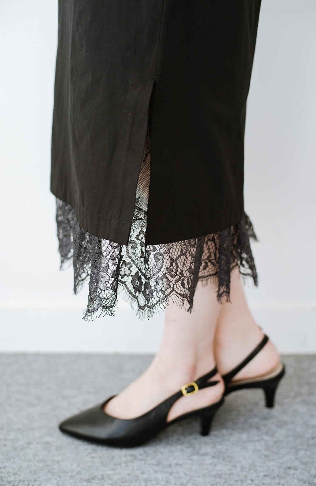 haco! はくだけで華やかなきれいシルエットの重ねタイトスカート by MAKORI <ブラック>の商品写真8