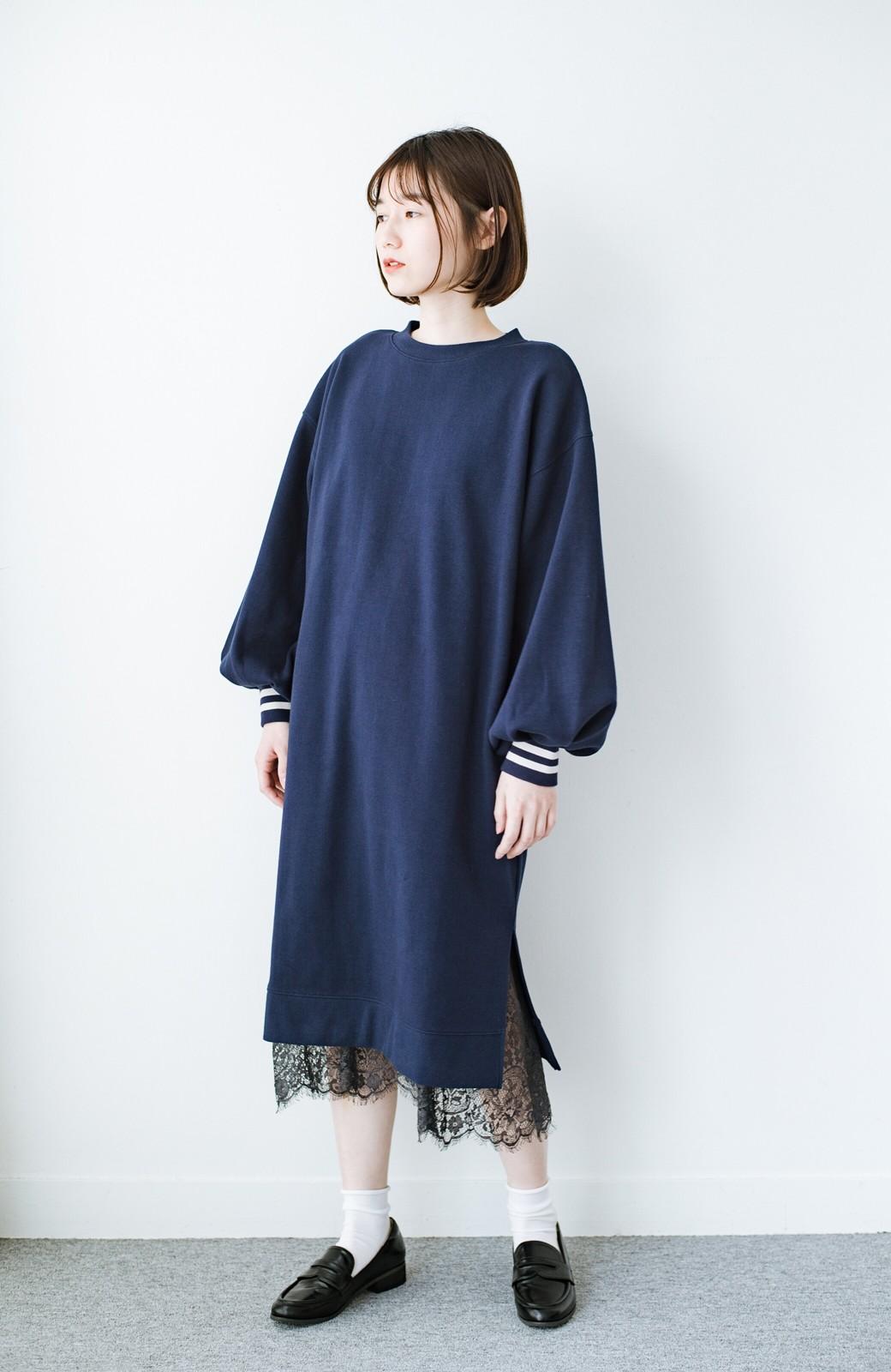 haco! はくだけで華やかなきれいシルエットの重ねタイトスカート by MAKORI <ブラック>の商品写真12