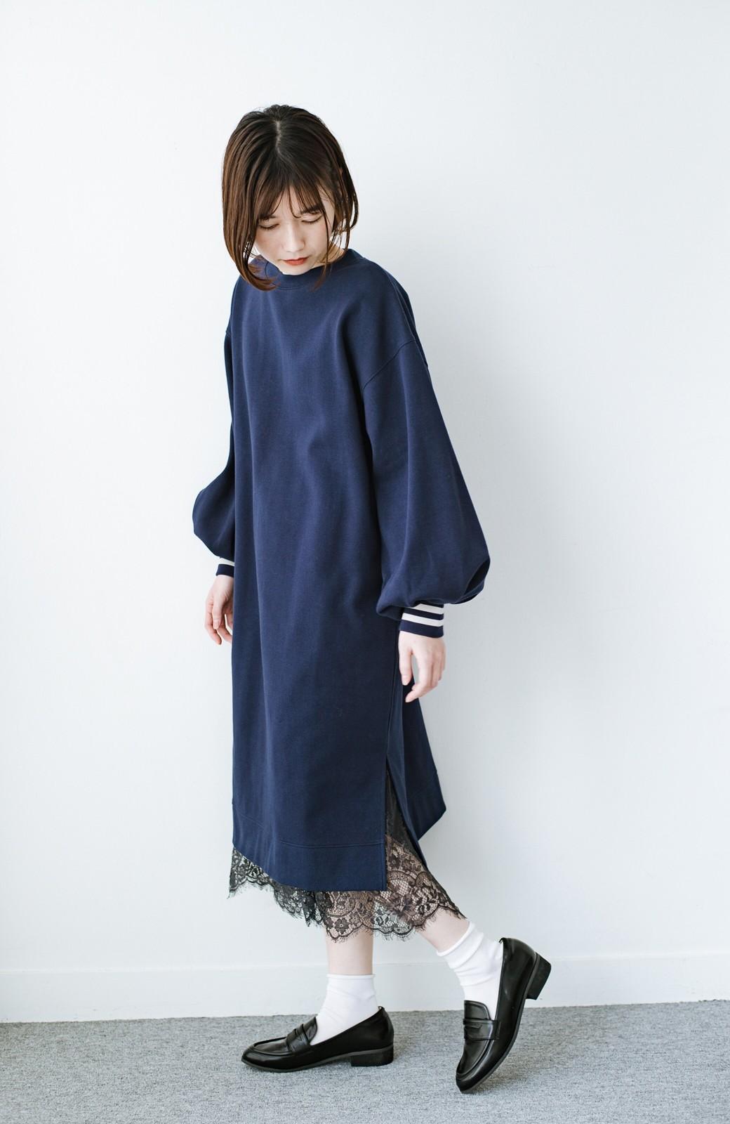haco! はくだけで華やかなきれいシルエットの重ねタイトスカート by MAKORI <ブラック>の商品写真15