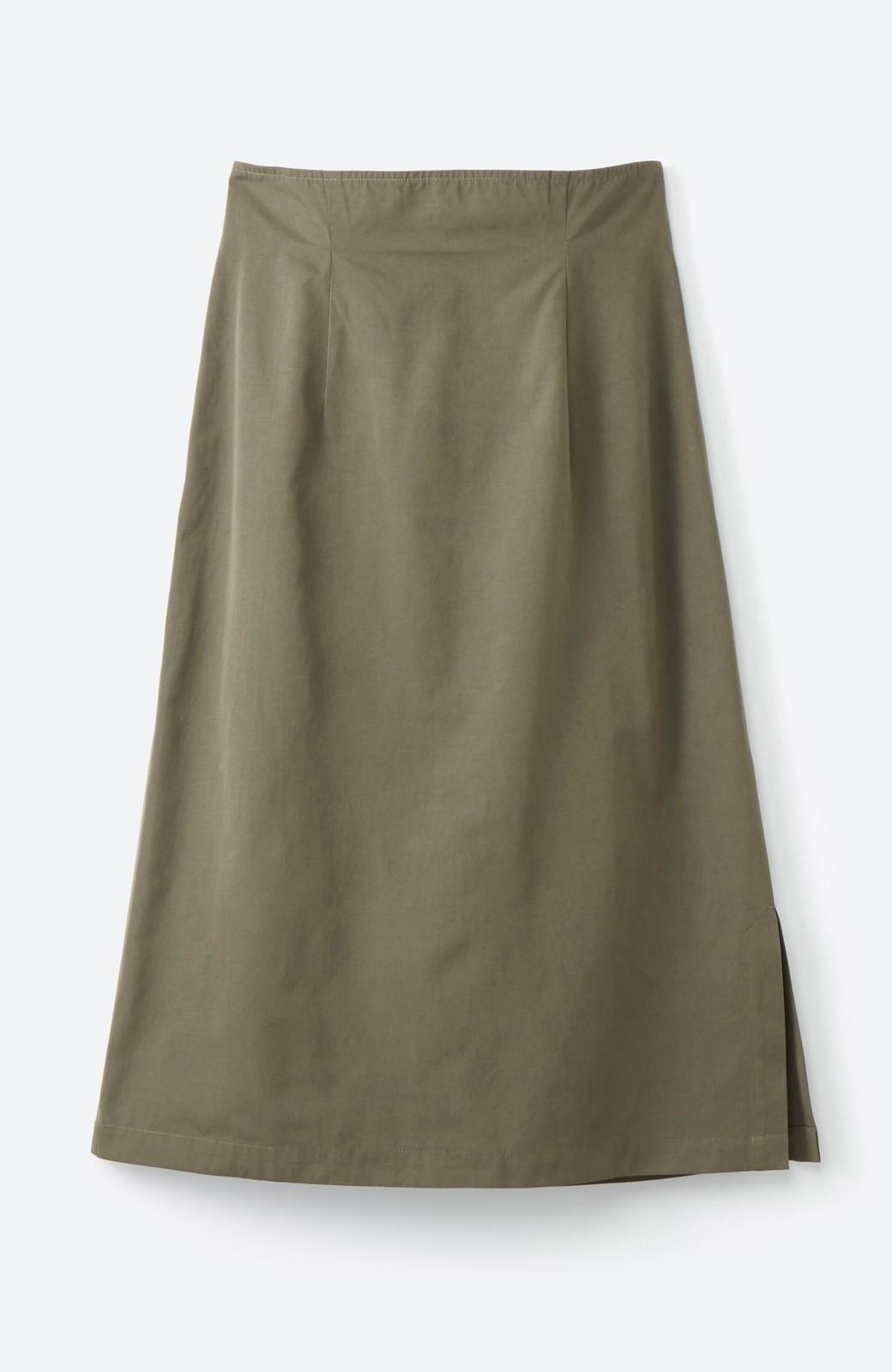 haco! はくだけで華やかなきれいシルエットの重ねタイトスカート by MAKORI <カーキ>の商品写真4