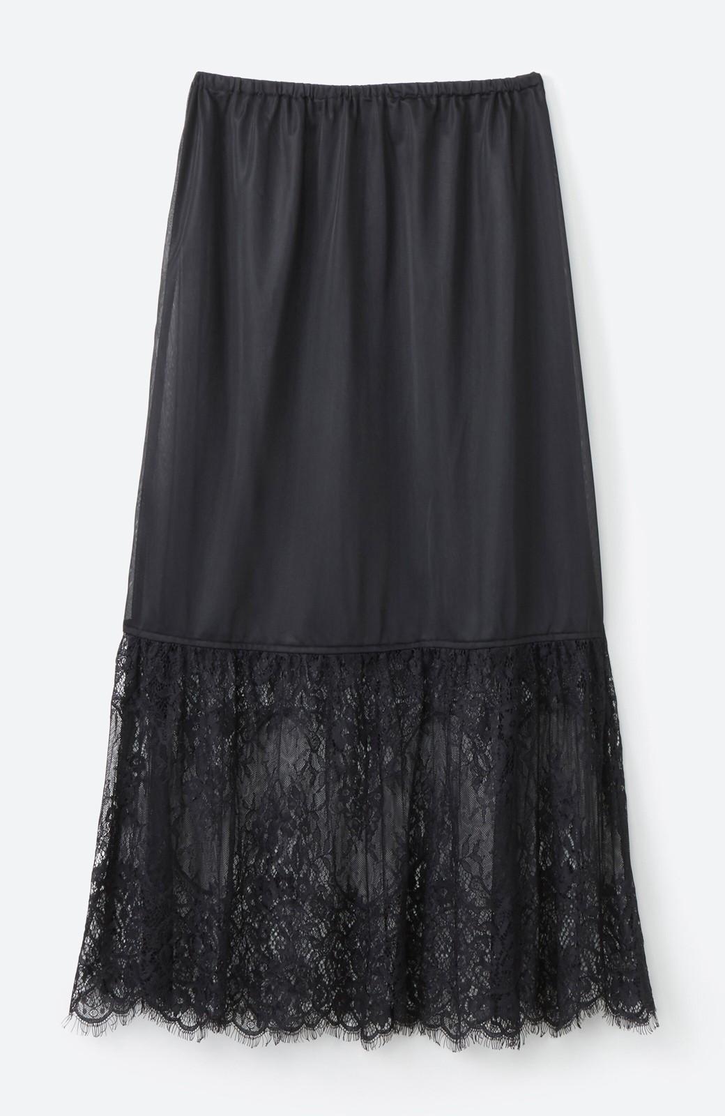 haco! はくだけで華やかなきれいシルエットの重ねタイトスカート by MAKORI <カーキ>の商品写真5