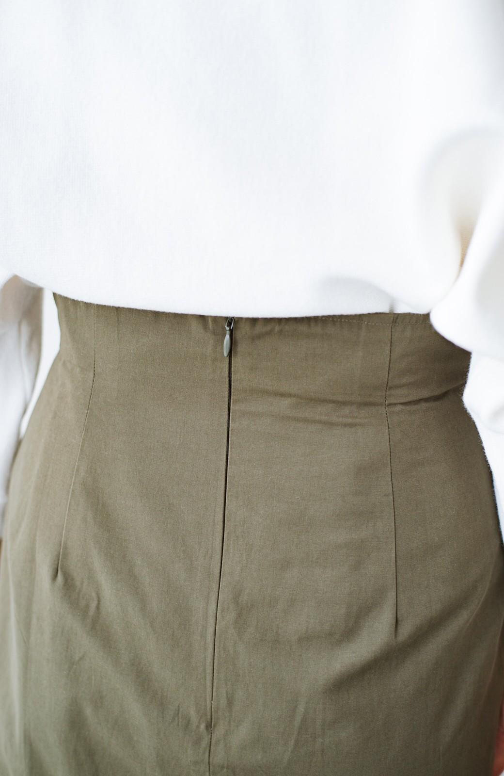 haco! はくだけで華やかなきれいシルエットの重ねタイトスカート by MAKORI <カーキ>の商品写真9