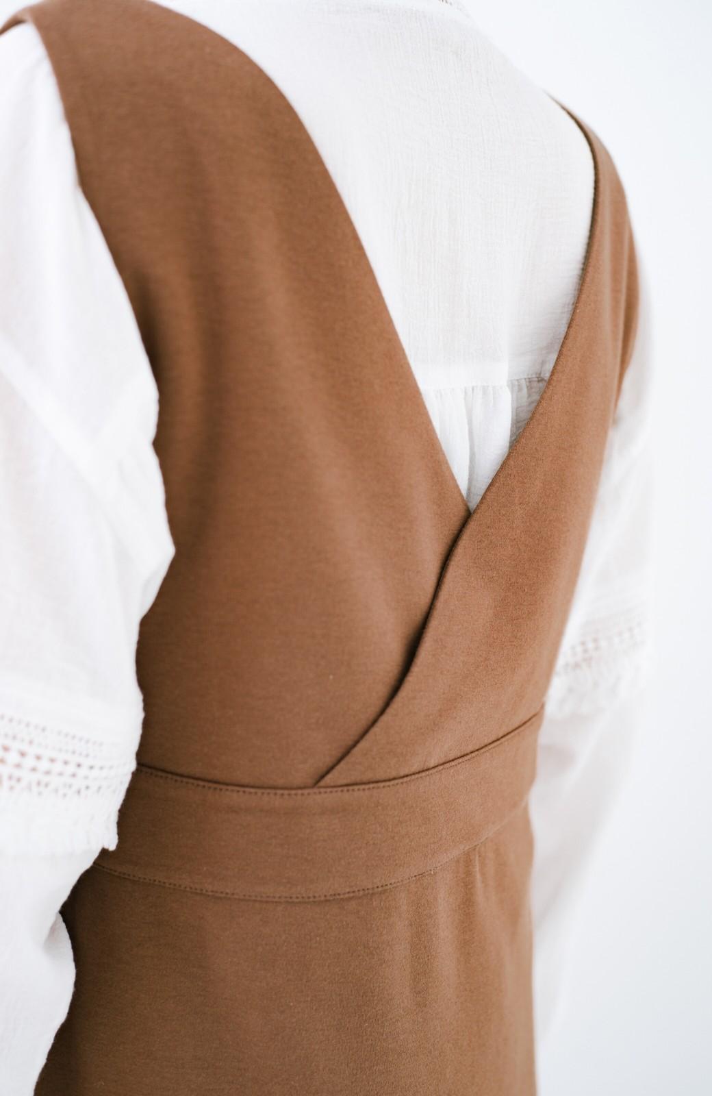 haco! 【ブラック残りわずか!】頑張りすぎずにちゃんとかわいい カットソージャンパースカート <ライトブラウン>の商品写真6
