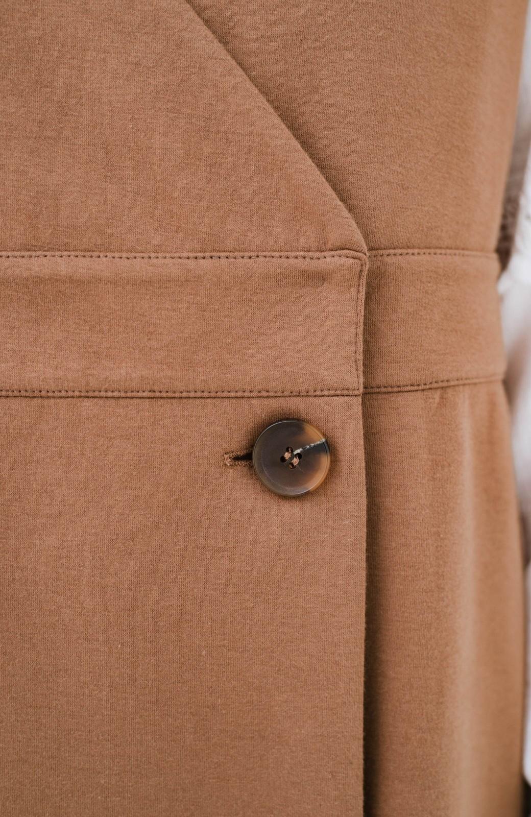 haco! 【ブラック残りわずか!】頑張りすぎずにちゃんとかわいい カットソージャンパースカート <ライトブラウン>の商品写真7